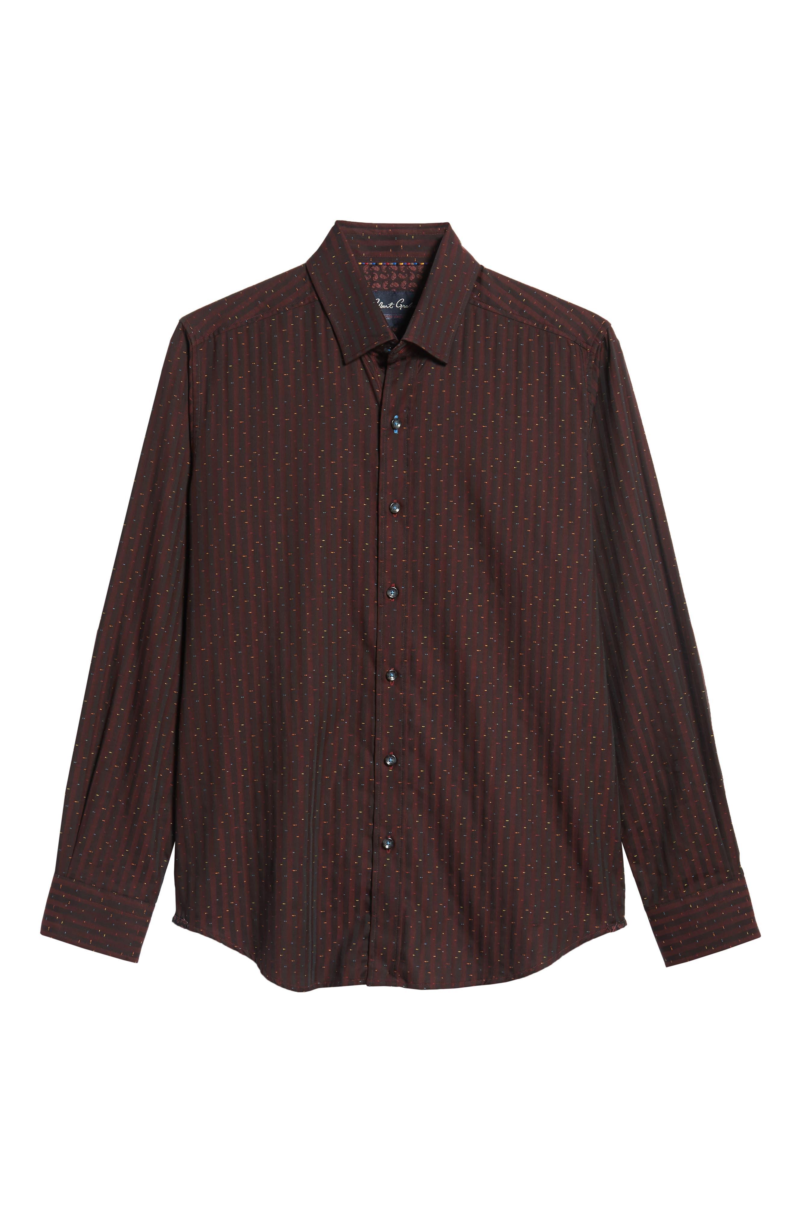 ROBERT GRAHAM,                             McDermott Tailored Fit Print Sport Shirt,                             Alternate thumbnail 5, color,                             603