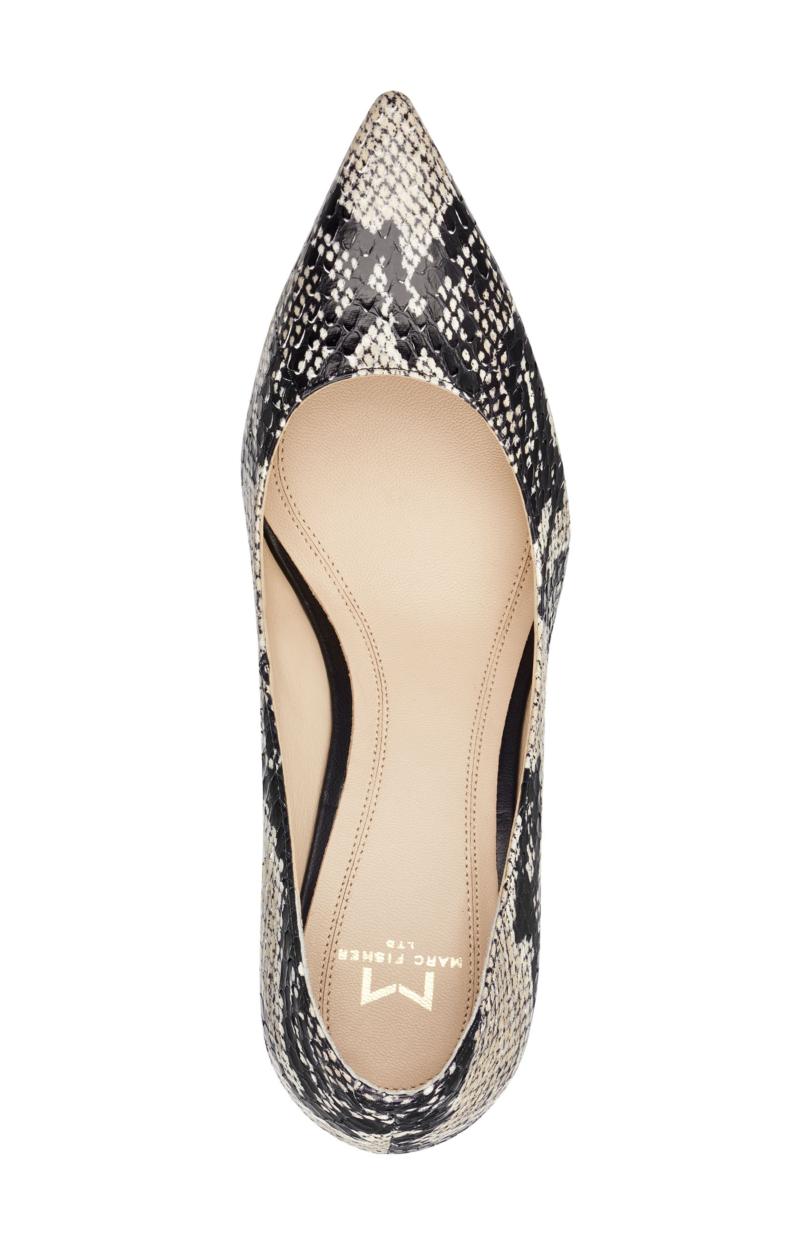 'Zala' Pump,                             Alternate thumbnail 5, color,                             BEIGE/ BLACK SNAKE PRINT