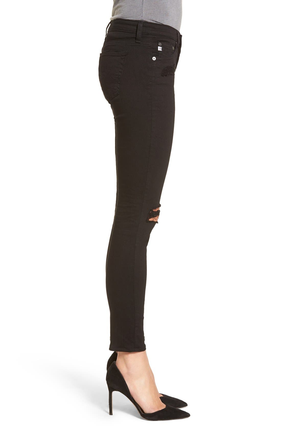 'The Legging' Ankle Super Skinny Jeans,                             Alternate thumbnail 21, color,