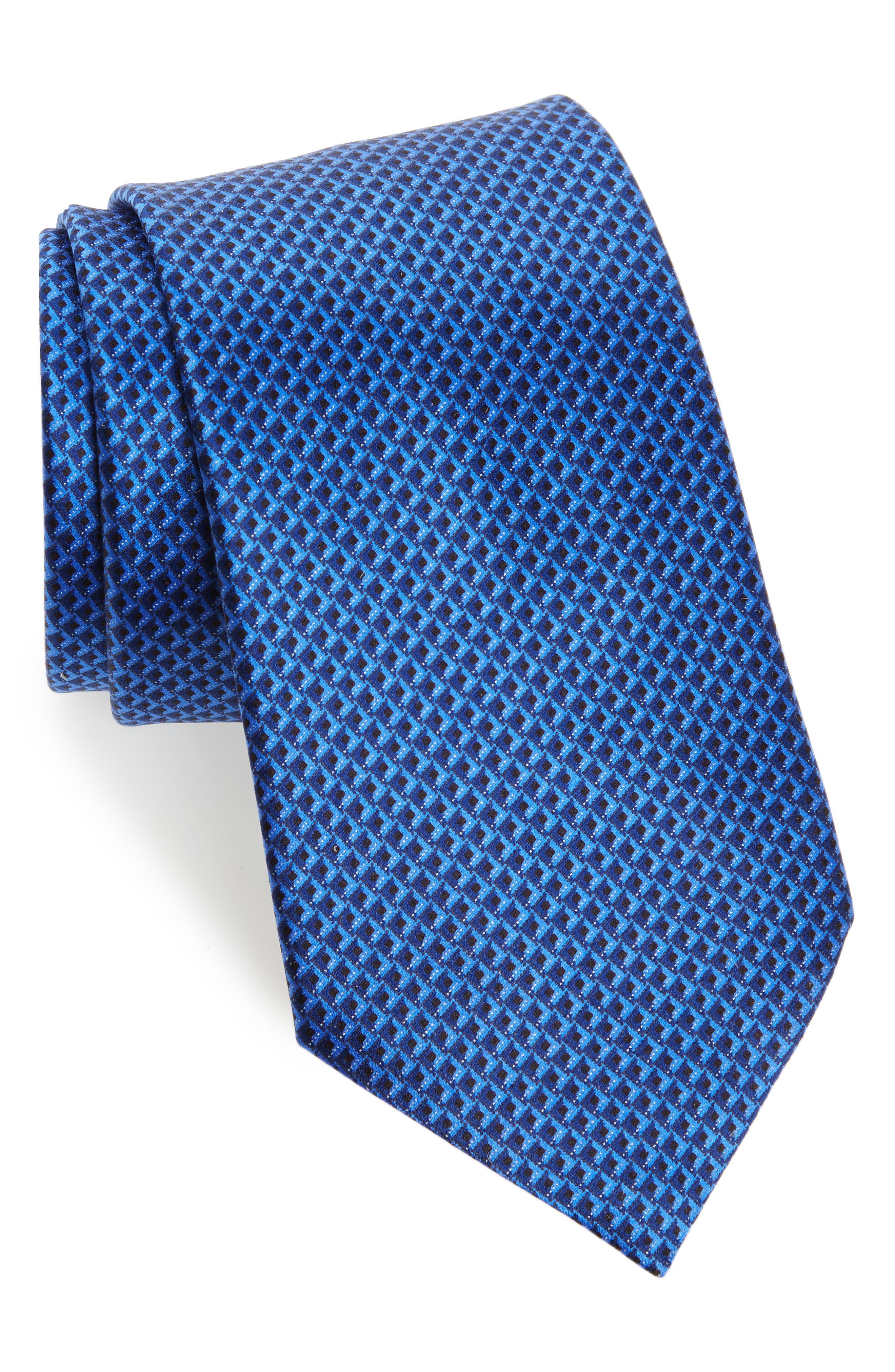 Solid Silk Tie,                         Main,                         color, 418