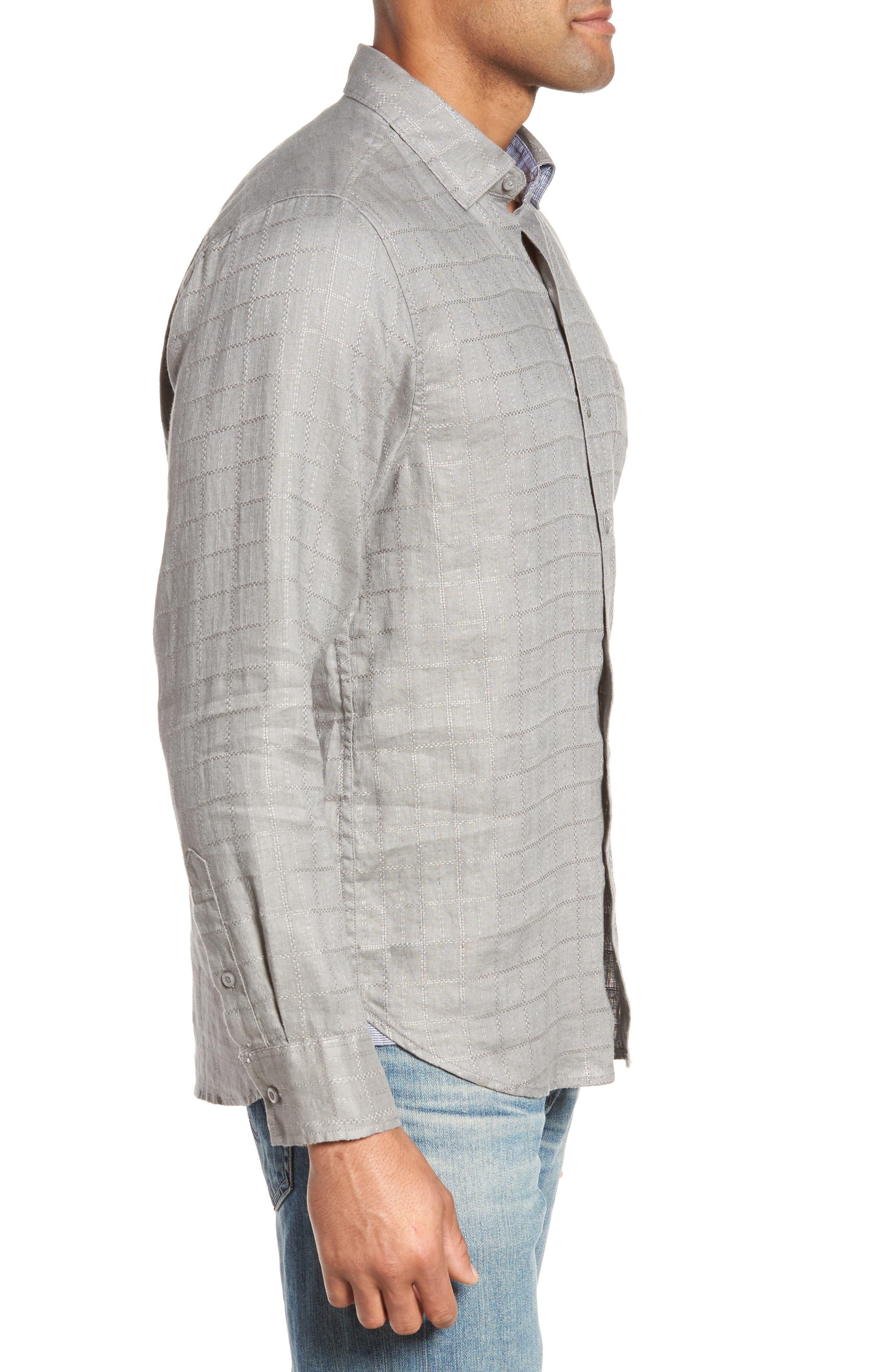 Costa Cera Linen Sport Shirt,                             Alternate thumbnail 3, color,                             050