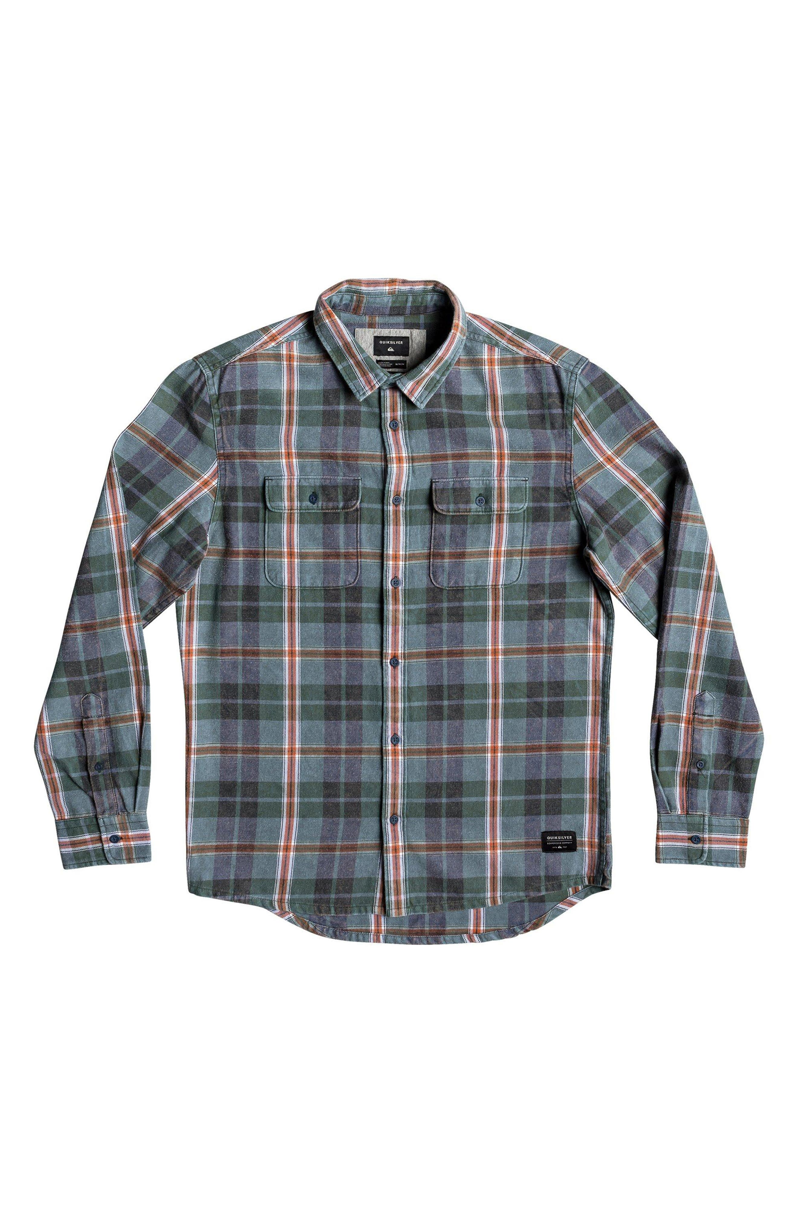 Super Tang Flannel Shirt,                             Alternate thumbnail 4, color,                             STONE WASH TANG