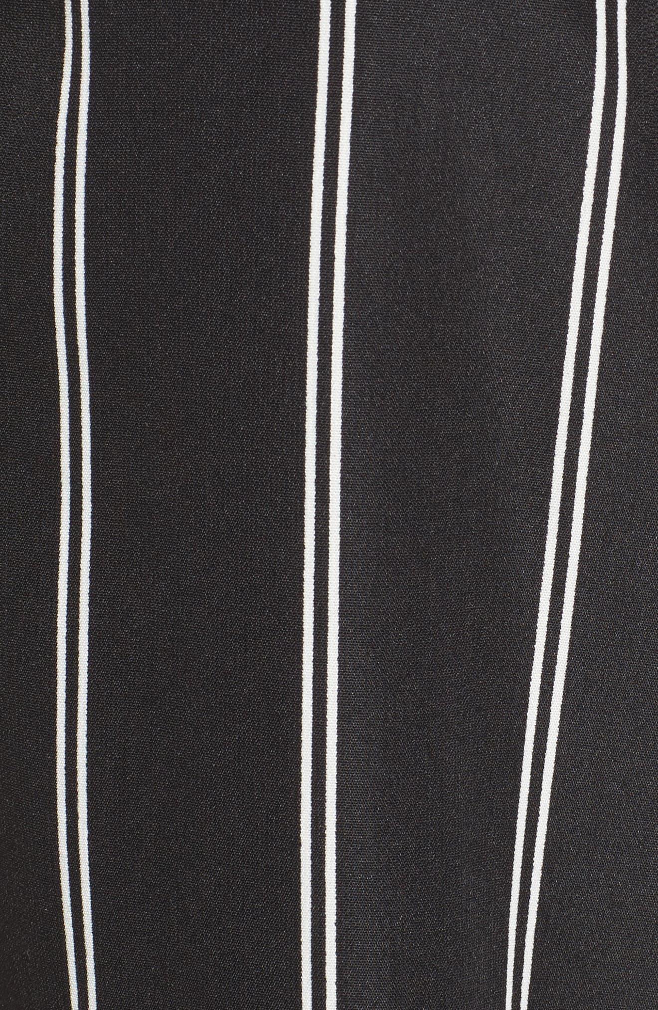 Stripe Tie Front Crop Pants,                             Alternate thumbnail 5, color,                             001