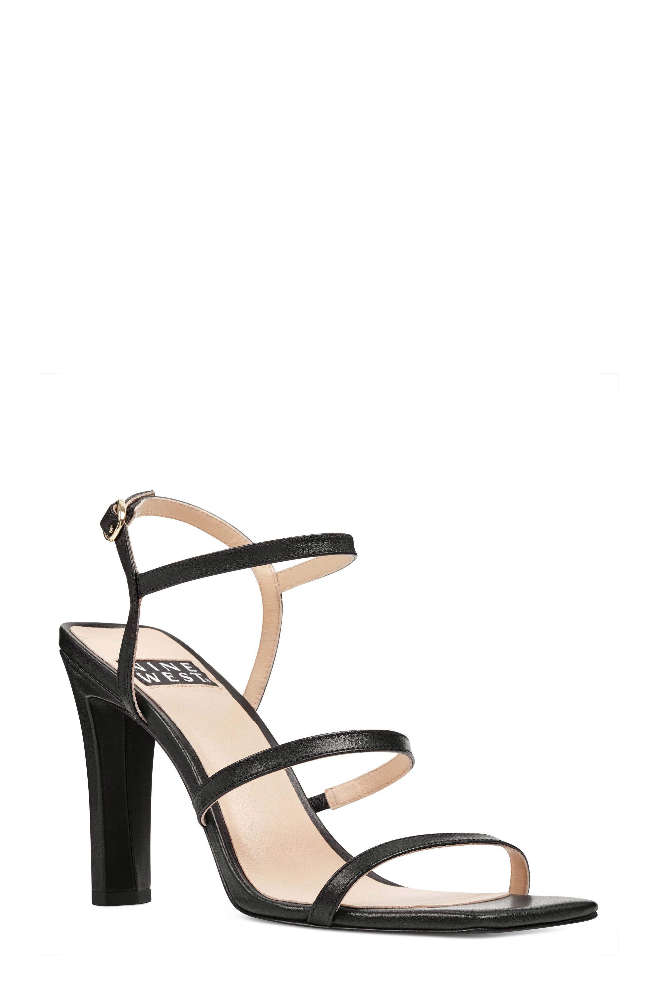 Gabelle - 40th Anniversary Capsule Collection Sandal,                             Main thumbnail 1, color,                             BLACK LEATHER