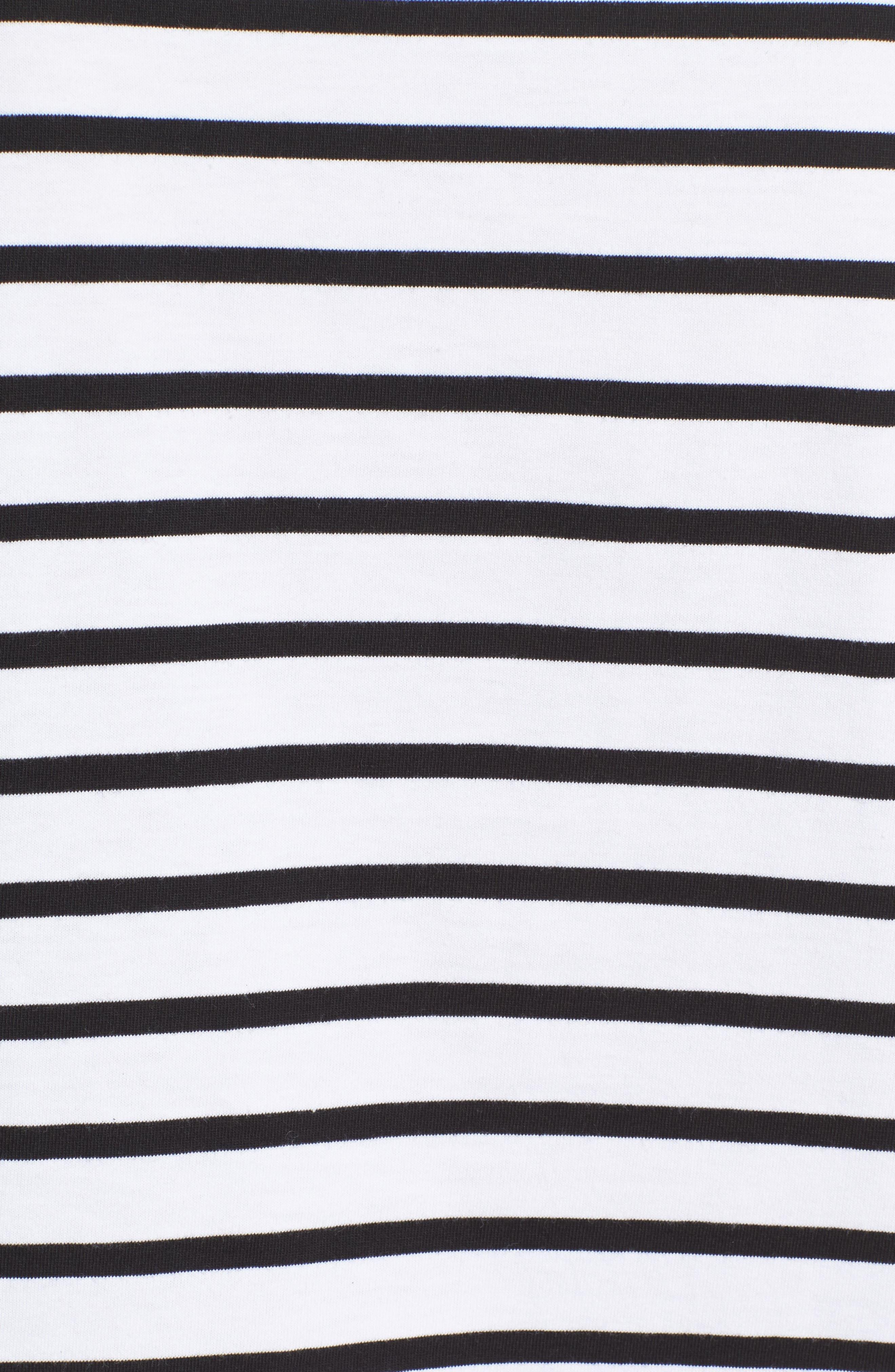 être cécile Star Stripe Tee,                             Alternate thumbnail 5, color,                             001