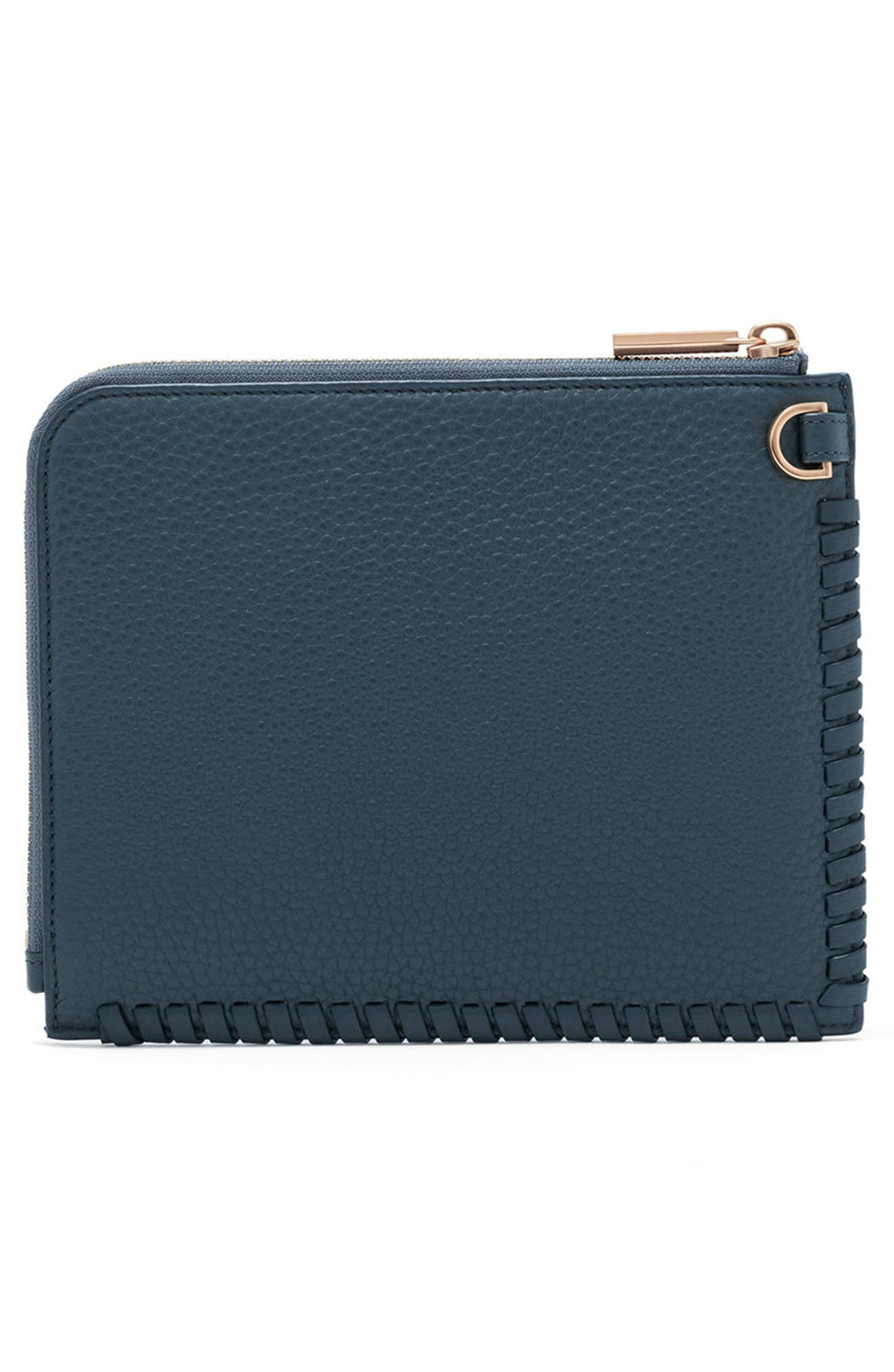 Small Elle Leather Clutch,                             Alternate thumbnail 12, color,