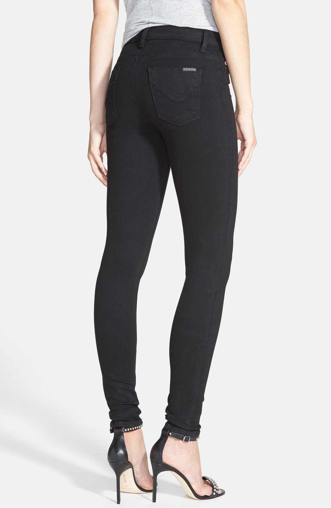 Barbara High Waist Skinny Jeans,                             Alternate thumbnail 3, color,                             001
