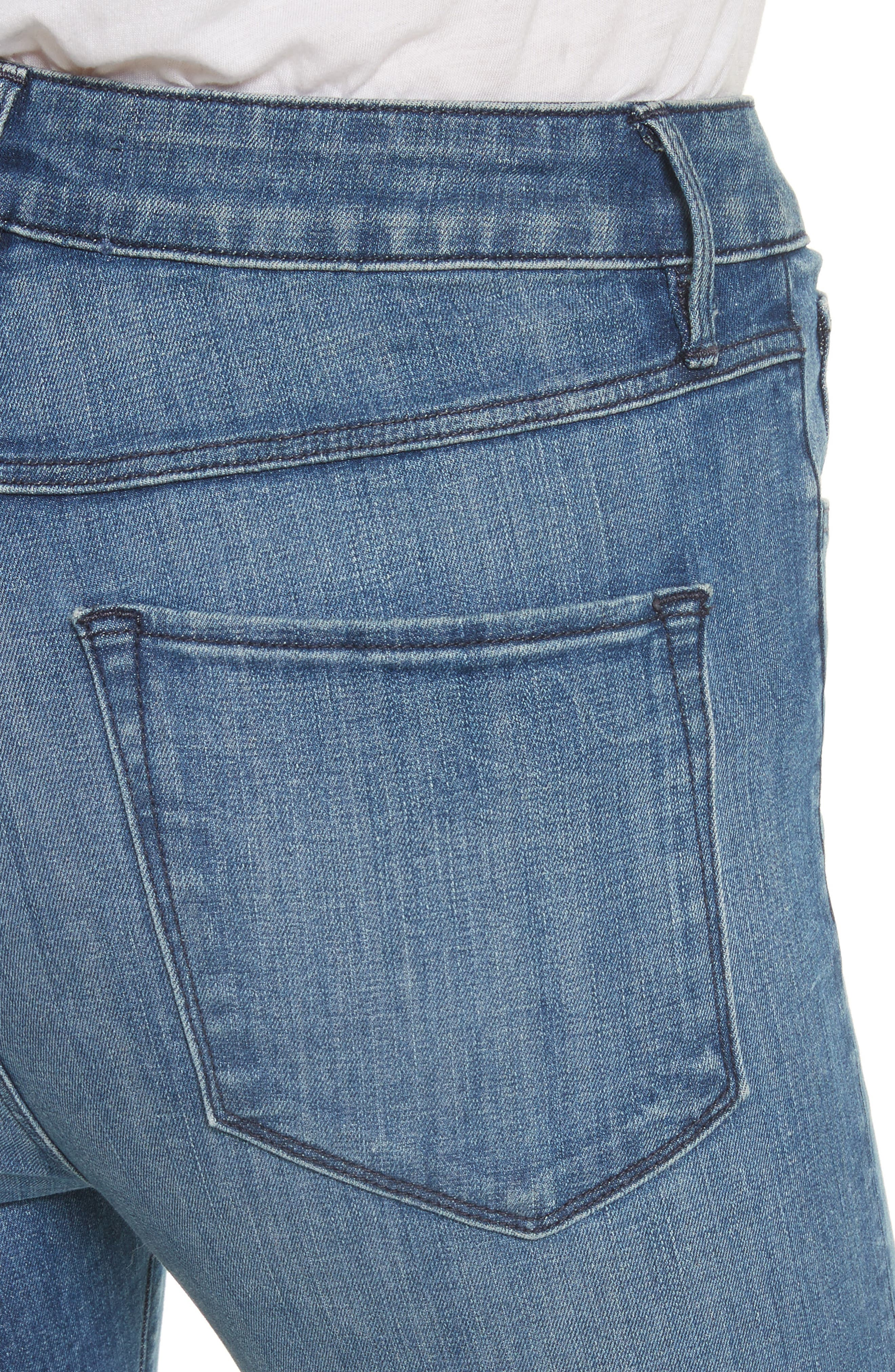 W3 Crop Skinny Jeans,                             Alternate thumbnail 4, color,                             428