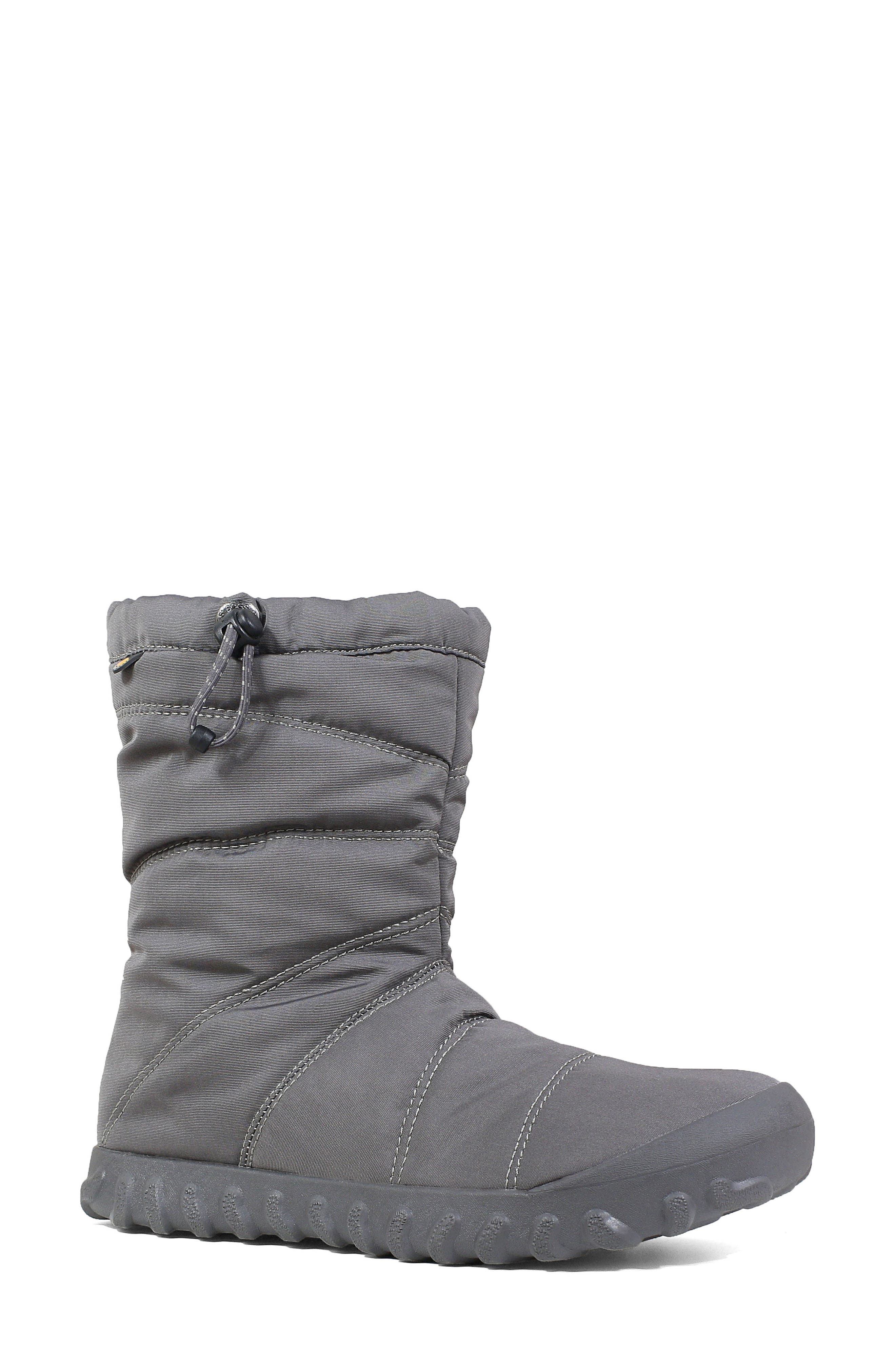 Bogs Puffy Insulated Waterproof Boot, Grey