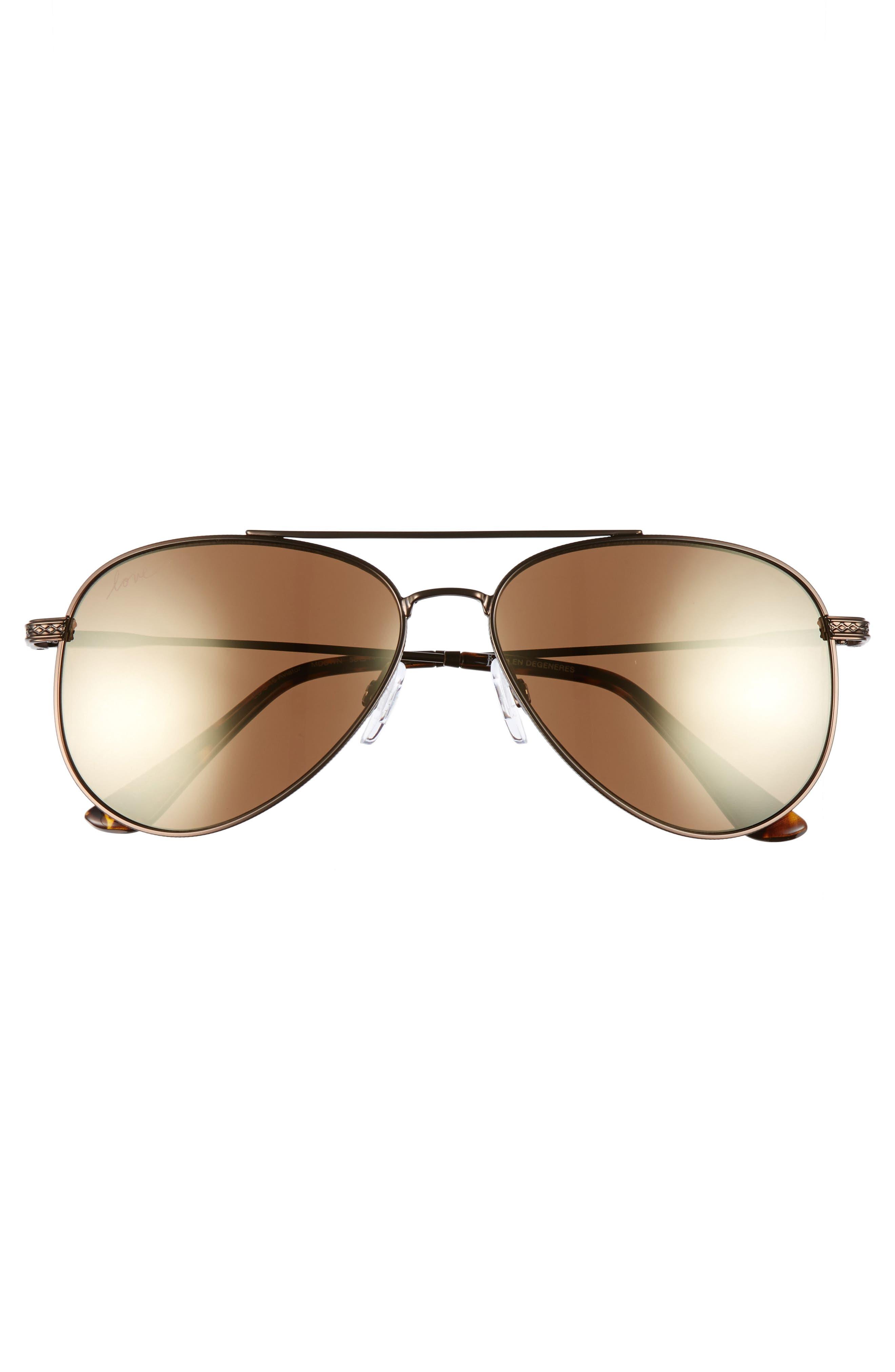 58mm Aviator Sunglasses,                             Alternate thumbnail 8, color,
