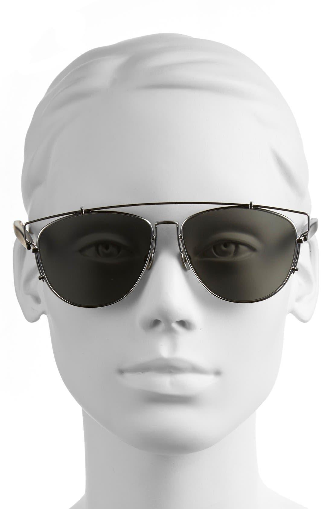 Technologic 57mm Brow Bar Sunglasses,                             Alternate thumbnail 19, color,
