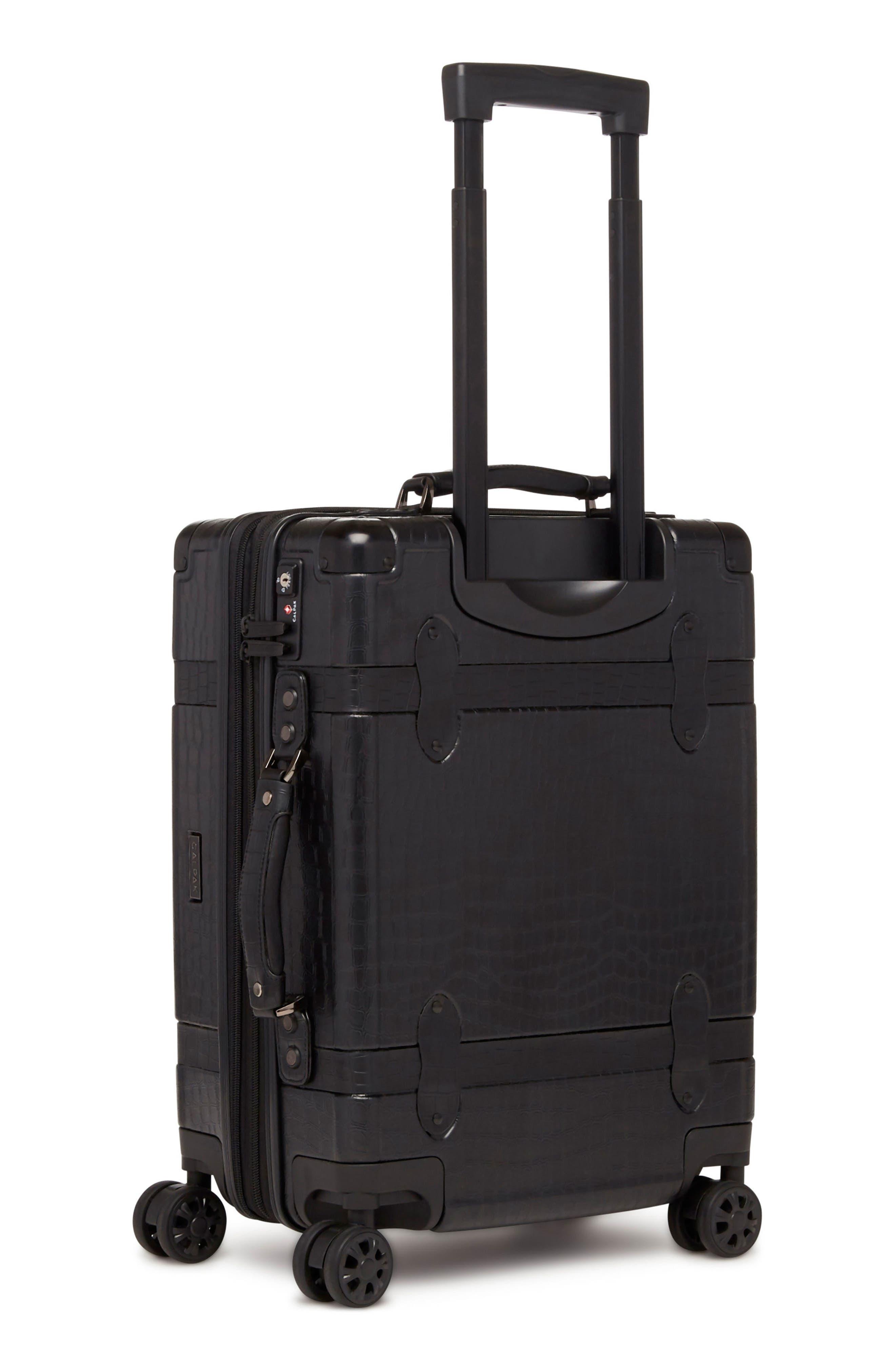 Trunk 22-Inch Rolling Suitcase,                             Alternate thumbnail 4, color,                             NOIR