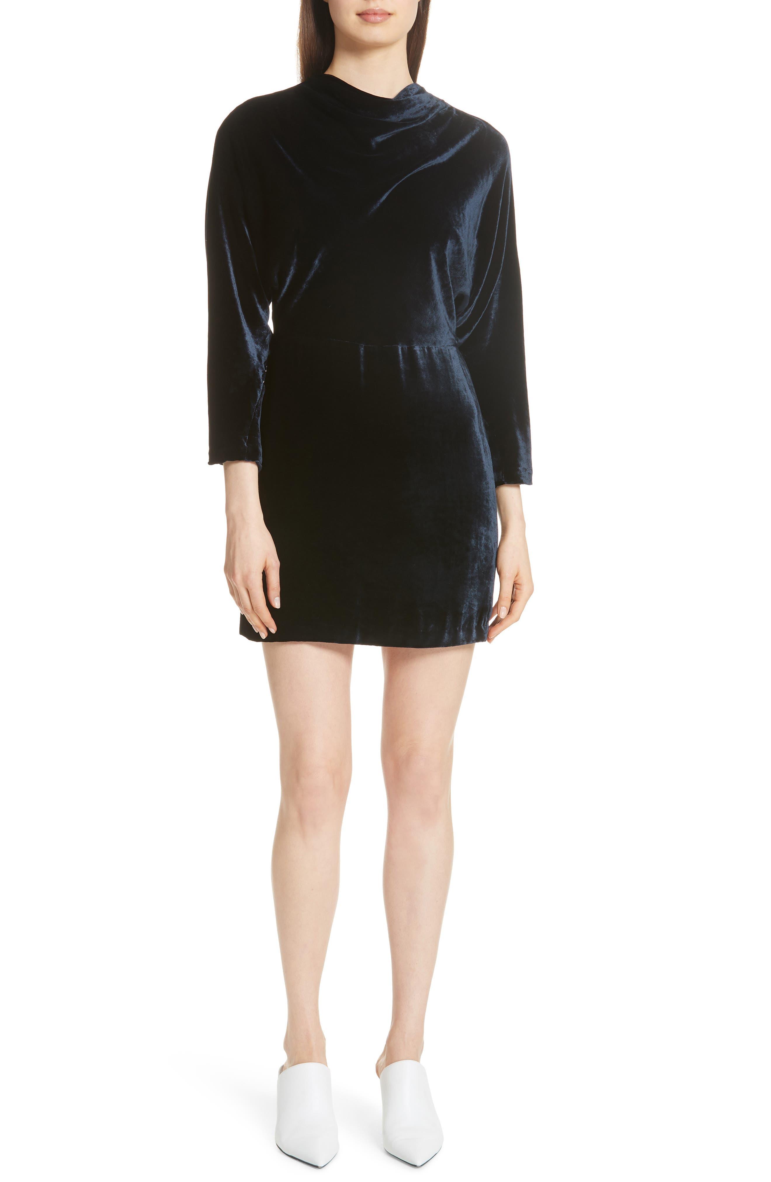 A.l.c. Marin Velvet Dress, Blue
