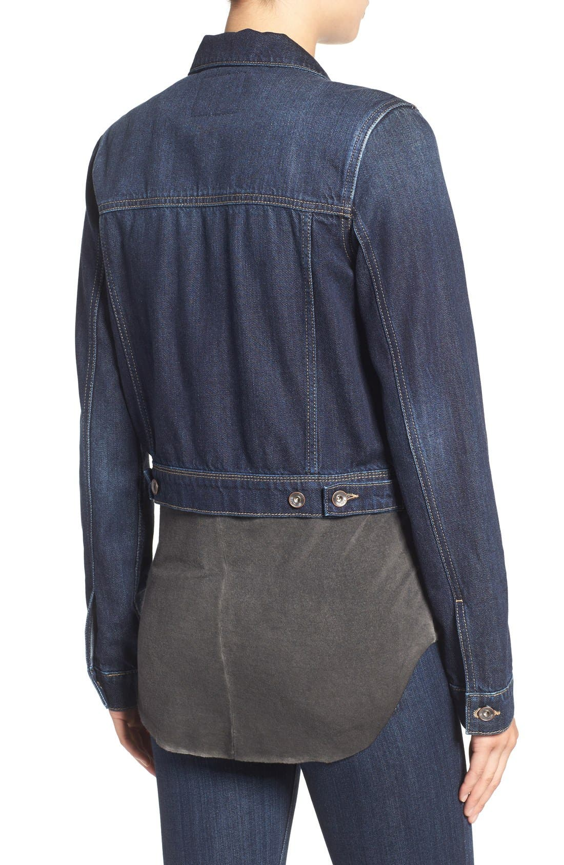 'Vivienne' Denim Jacket,                             Alternate thumbnail 2, color,                             400