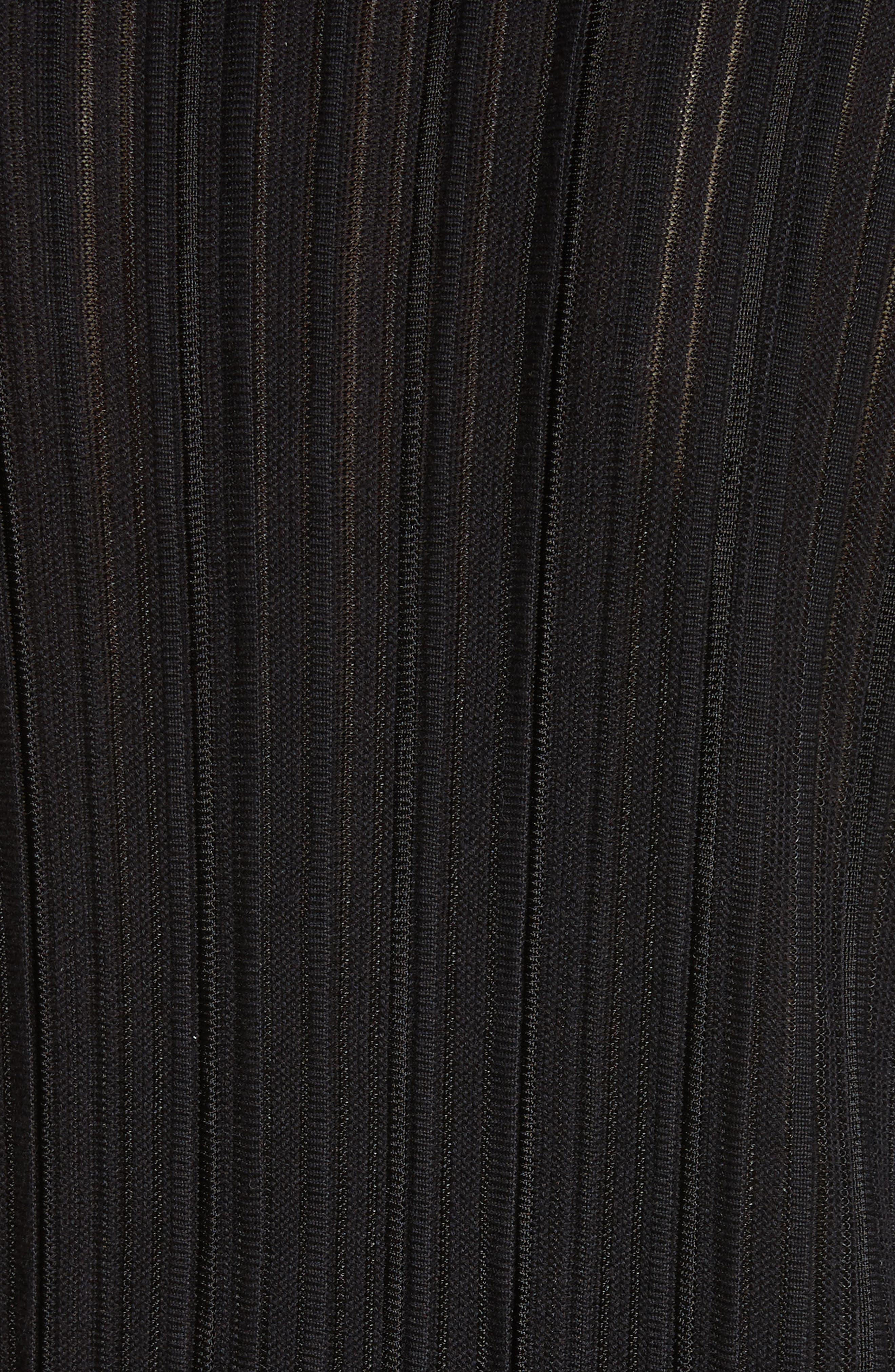 Knit Asymmetrical Sweater,                             Alternate thumbnail 6, color,                             CAVIAR