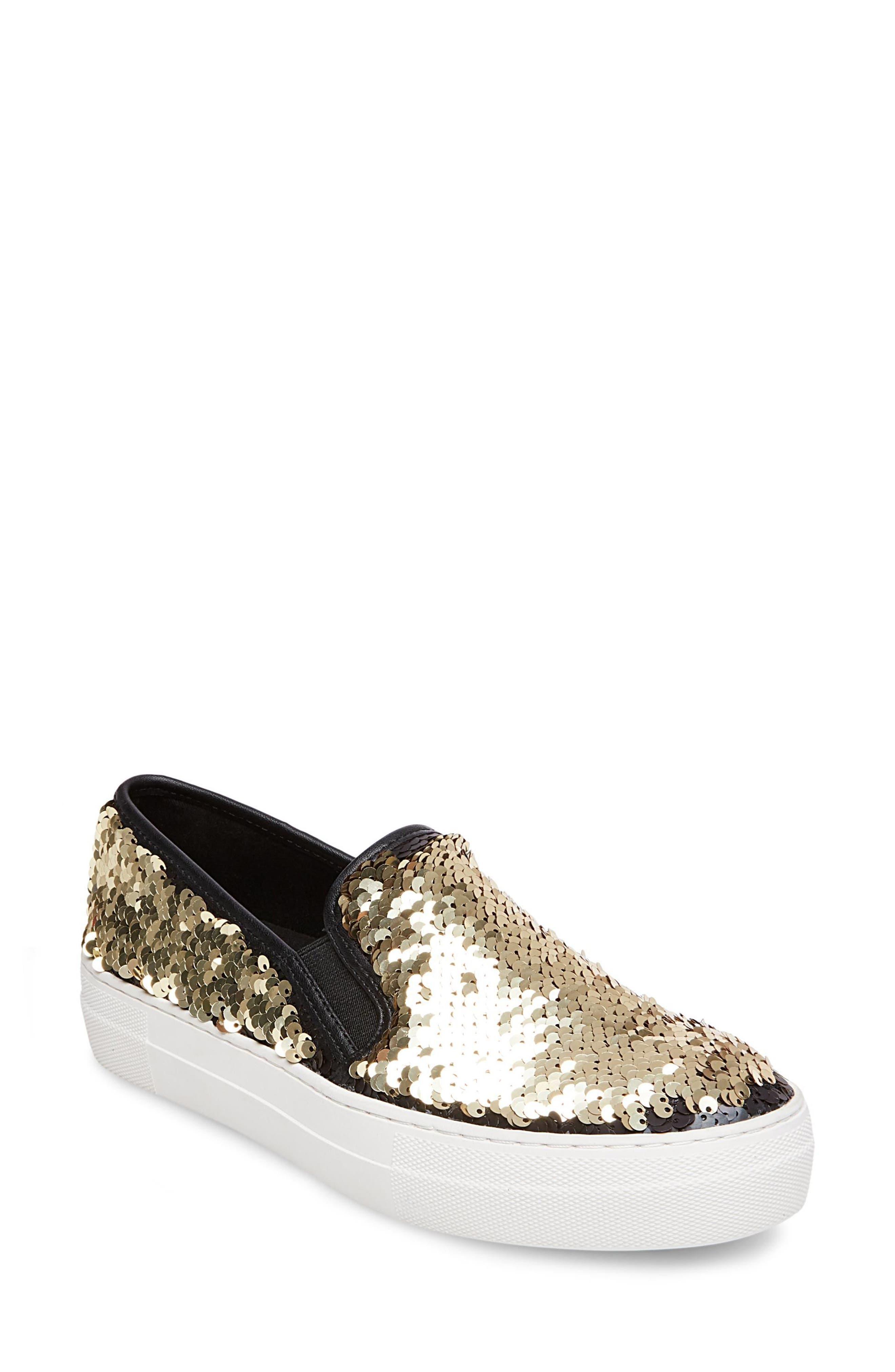 Gills Sequined Slip-On Platform Sneaker,                             Alternate thumbnail 7, color,                             001