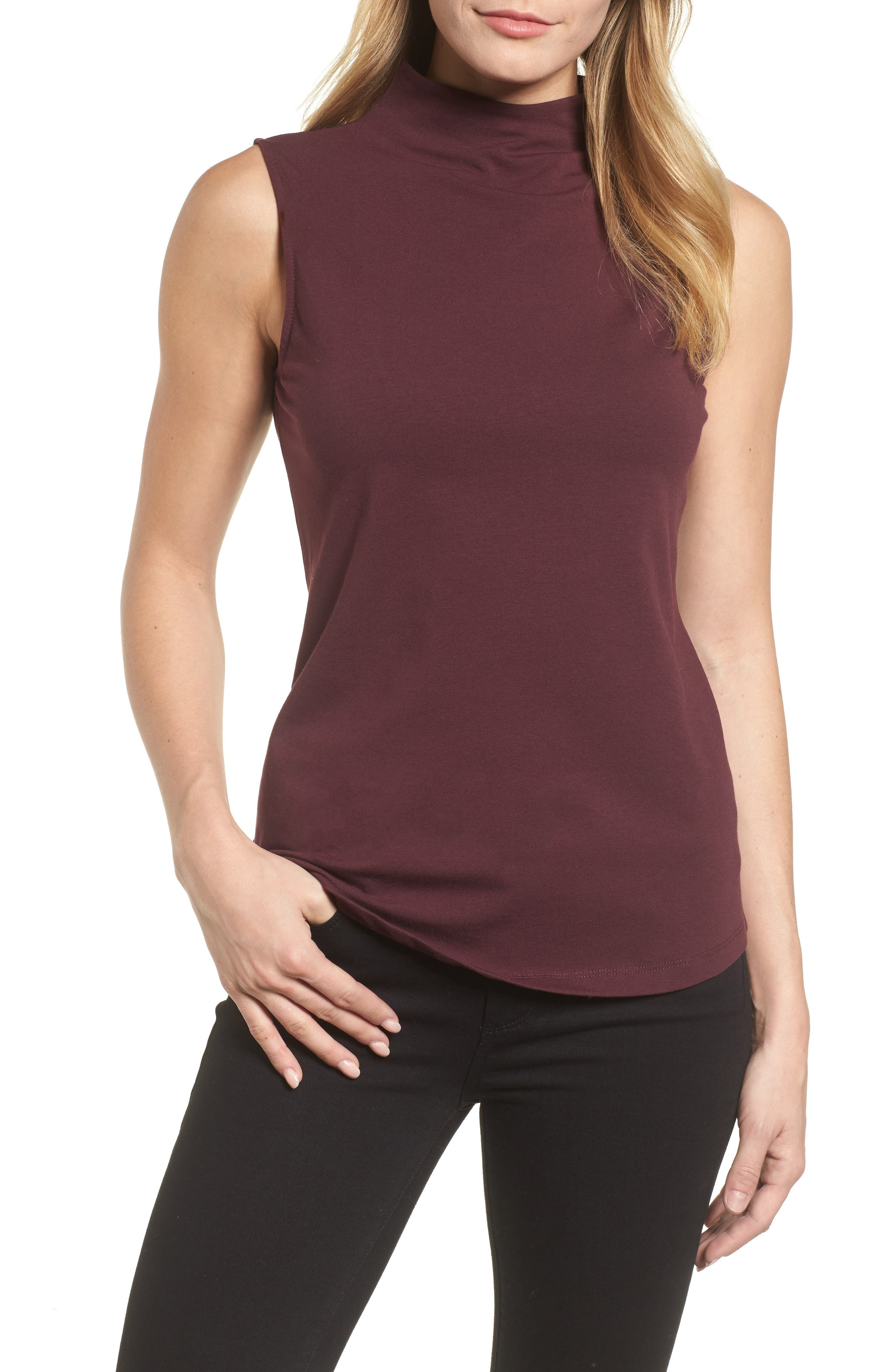 The Perfect Mock Neck Top,                             Main thumbnail 7, color,