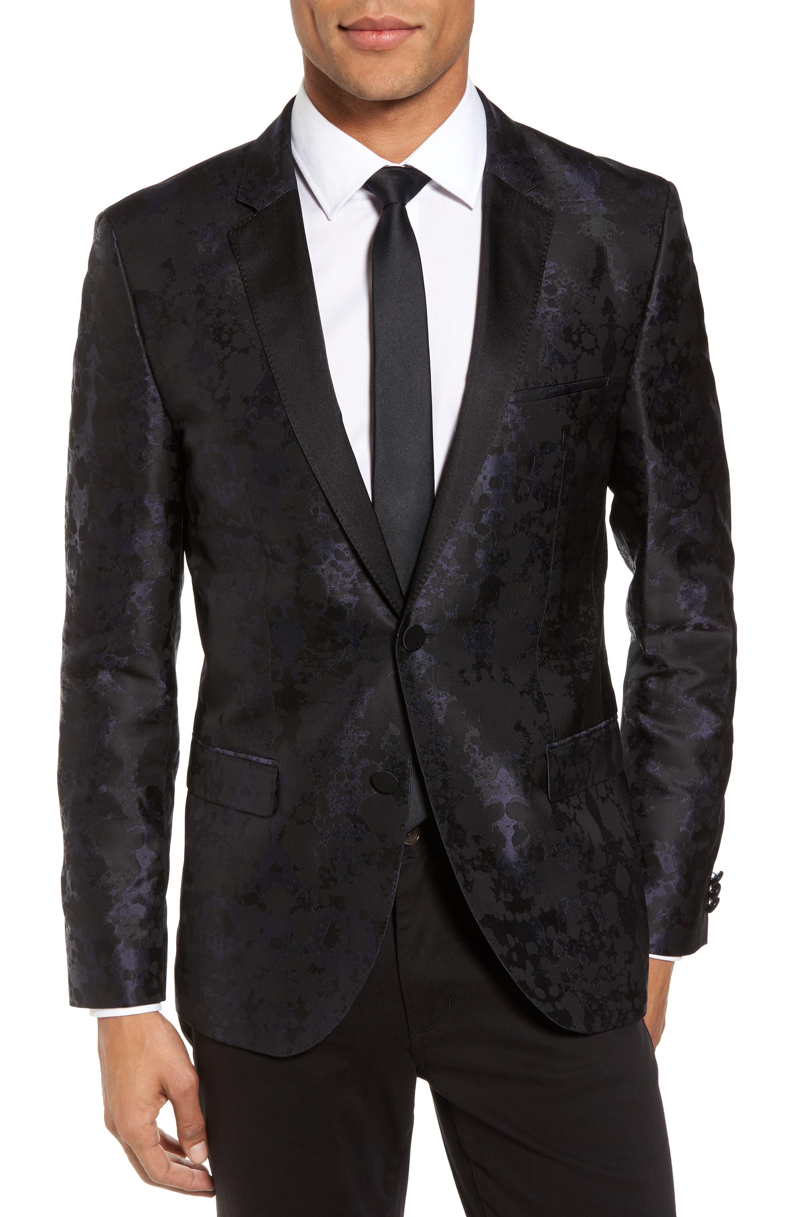 Artins Print Silk Sport Coat,                         Main,                         color, 001