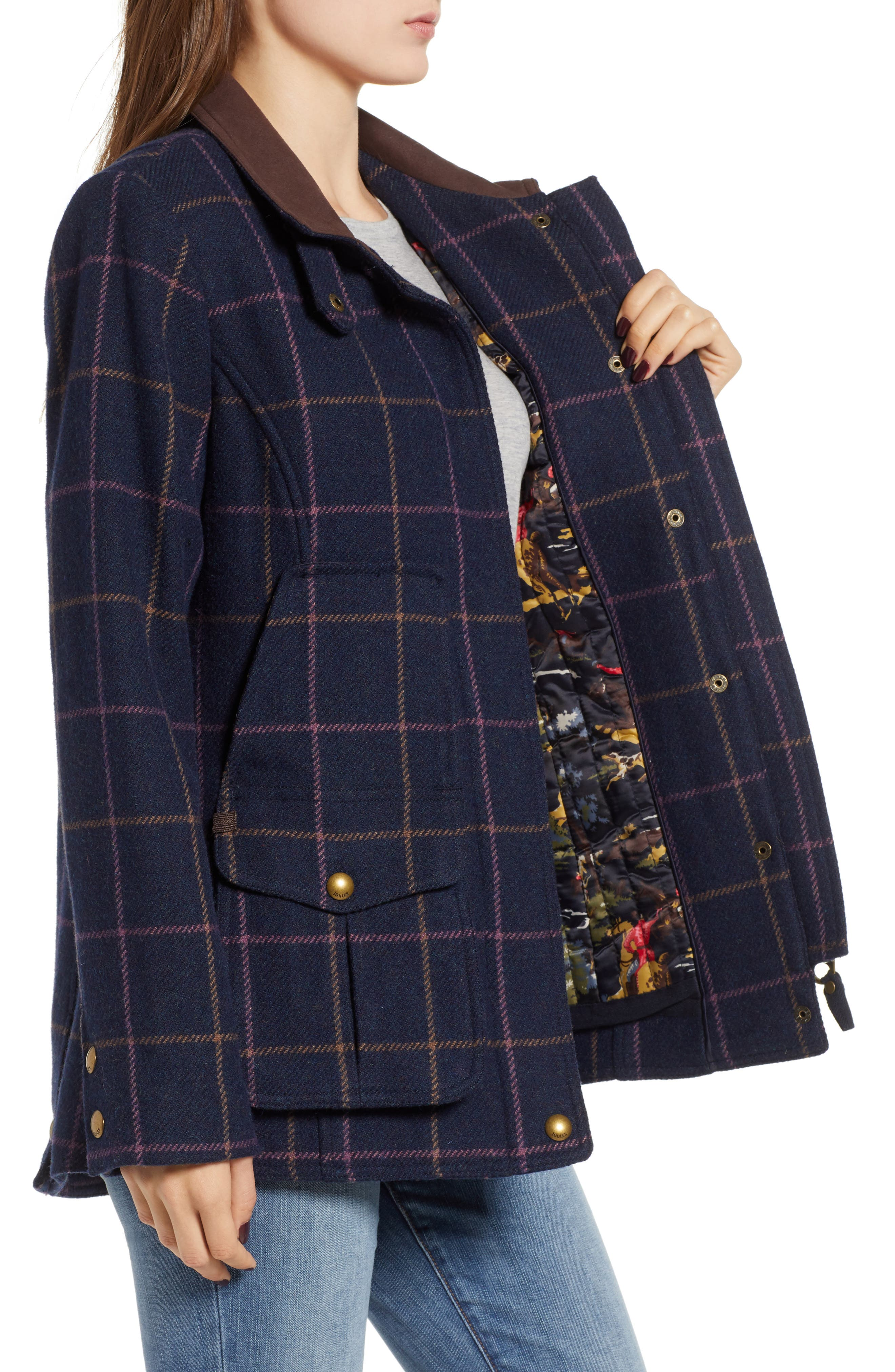 Check Plaid Coat,                             Alternate thumbnail 3, color,                             461
