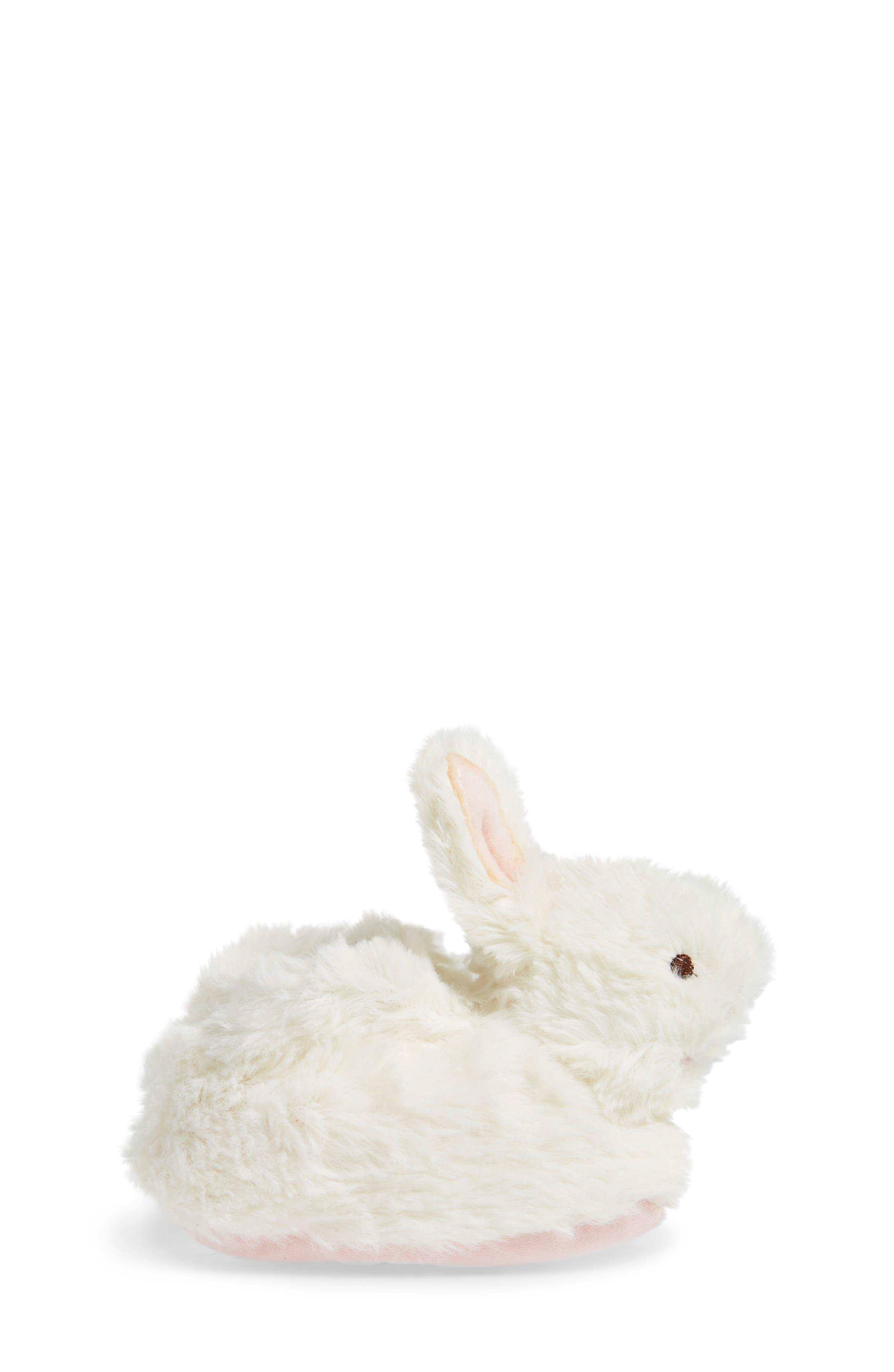 Faux Fur Bunny Slipper,                             Alternate thumbnail 3, color,                             100