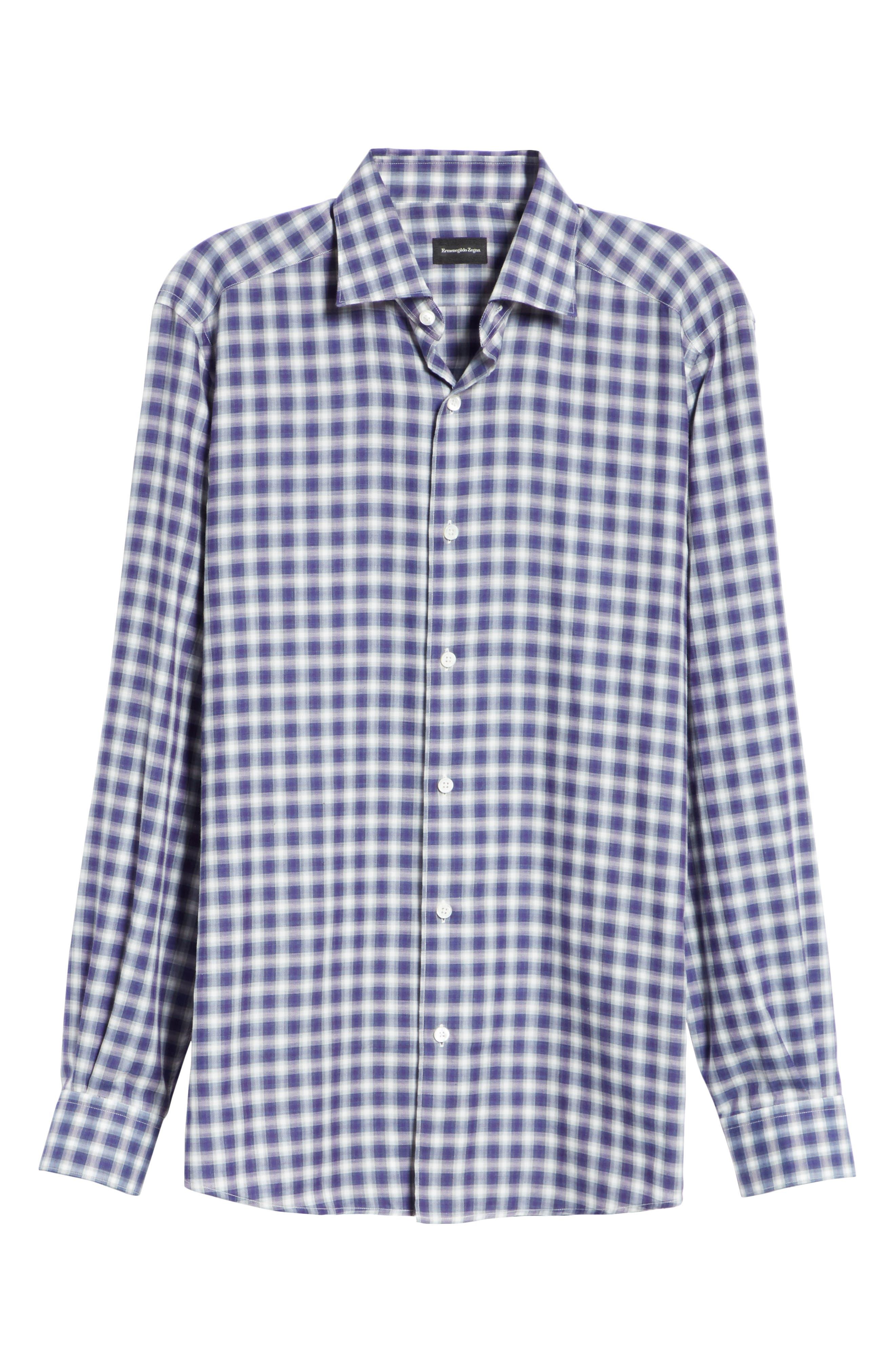 Classic Fit Check Sport Shirt,                             Alternate thumbnail 6, color,                             PURPLE