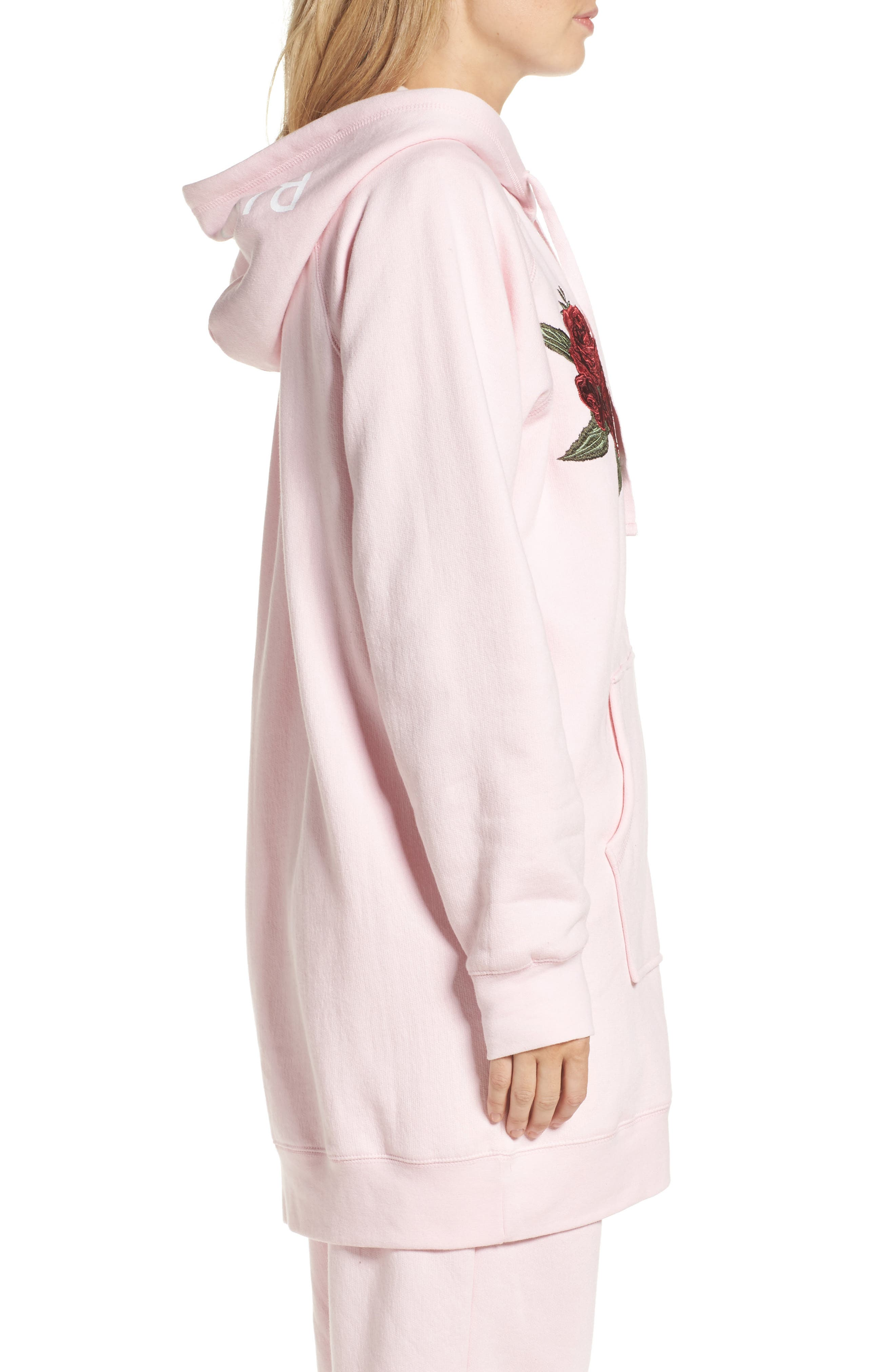 Blonde Embroidered Zip Hoodie,                             Alternate thumbnail 3, color,                             650