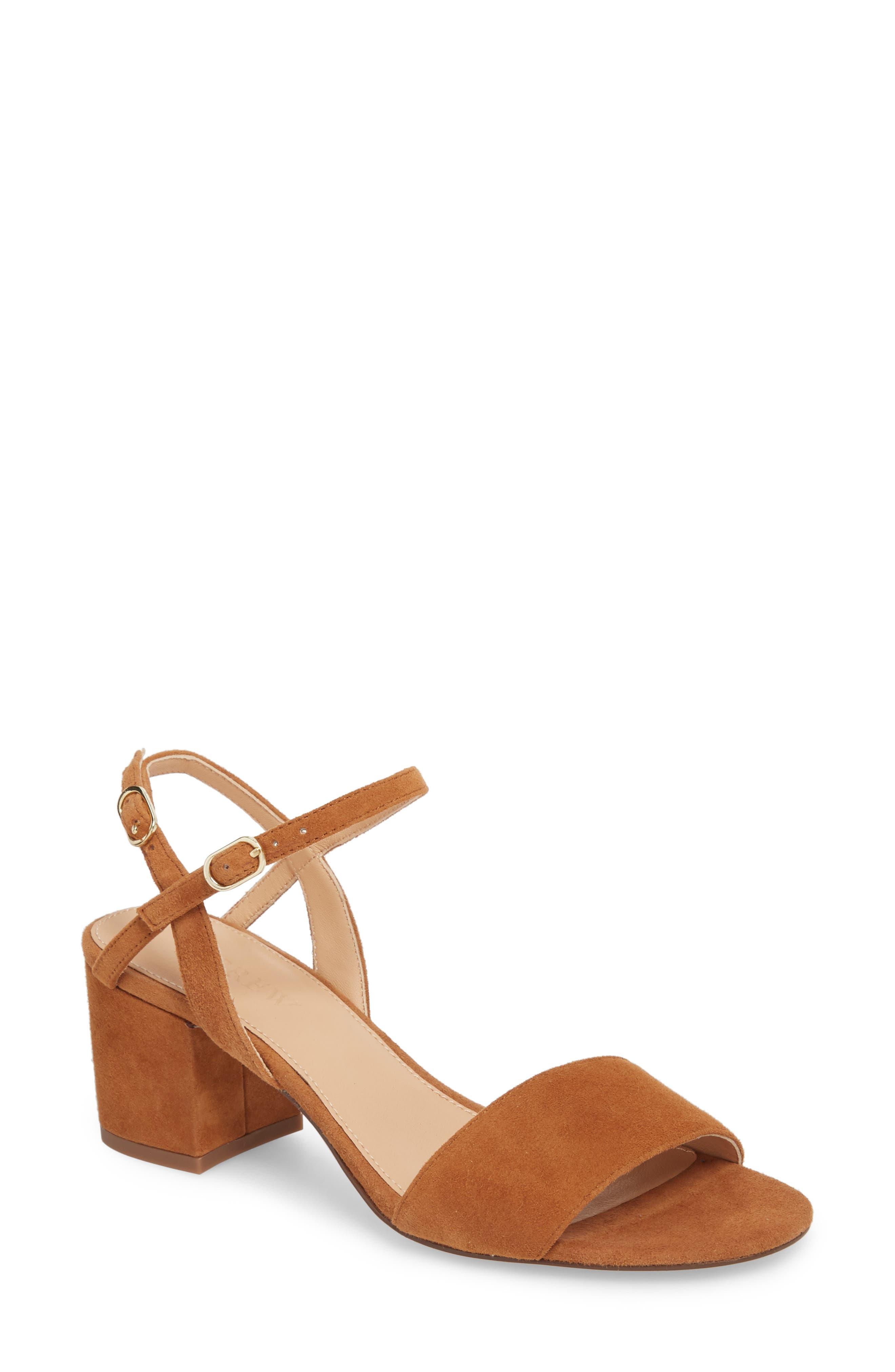 Strappy Block Heel Sandal,                             Main thumbnail 2, color,