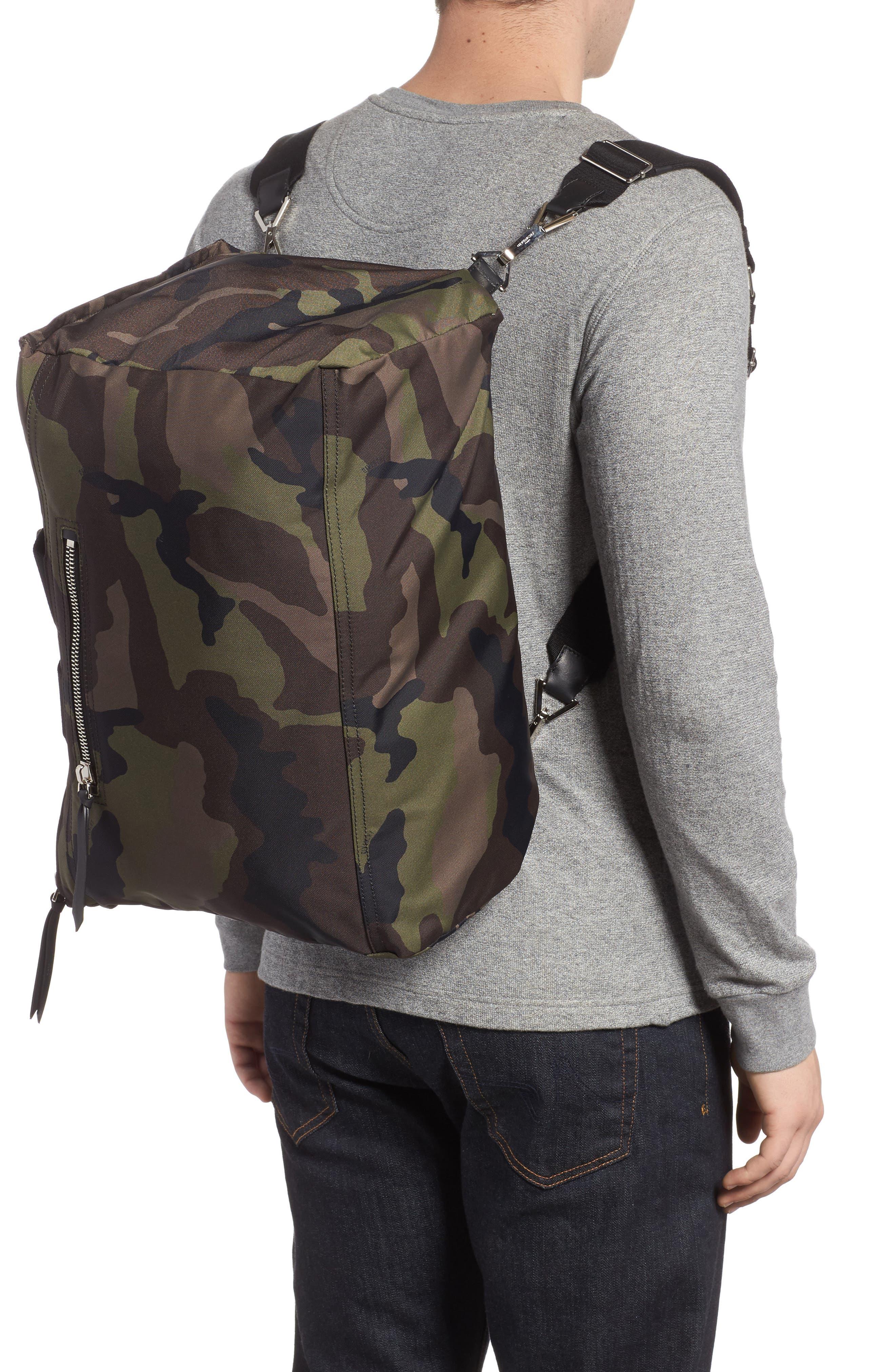 Pandora Camo Convertible Backpack,                             Alternate thumbnail 2, color,