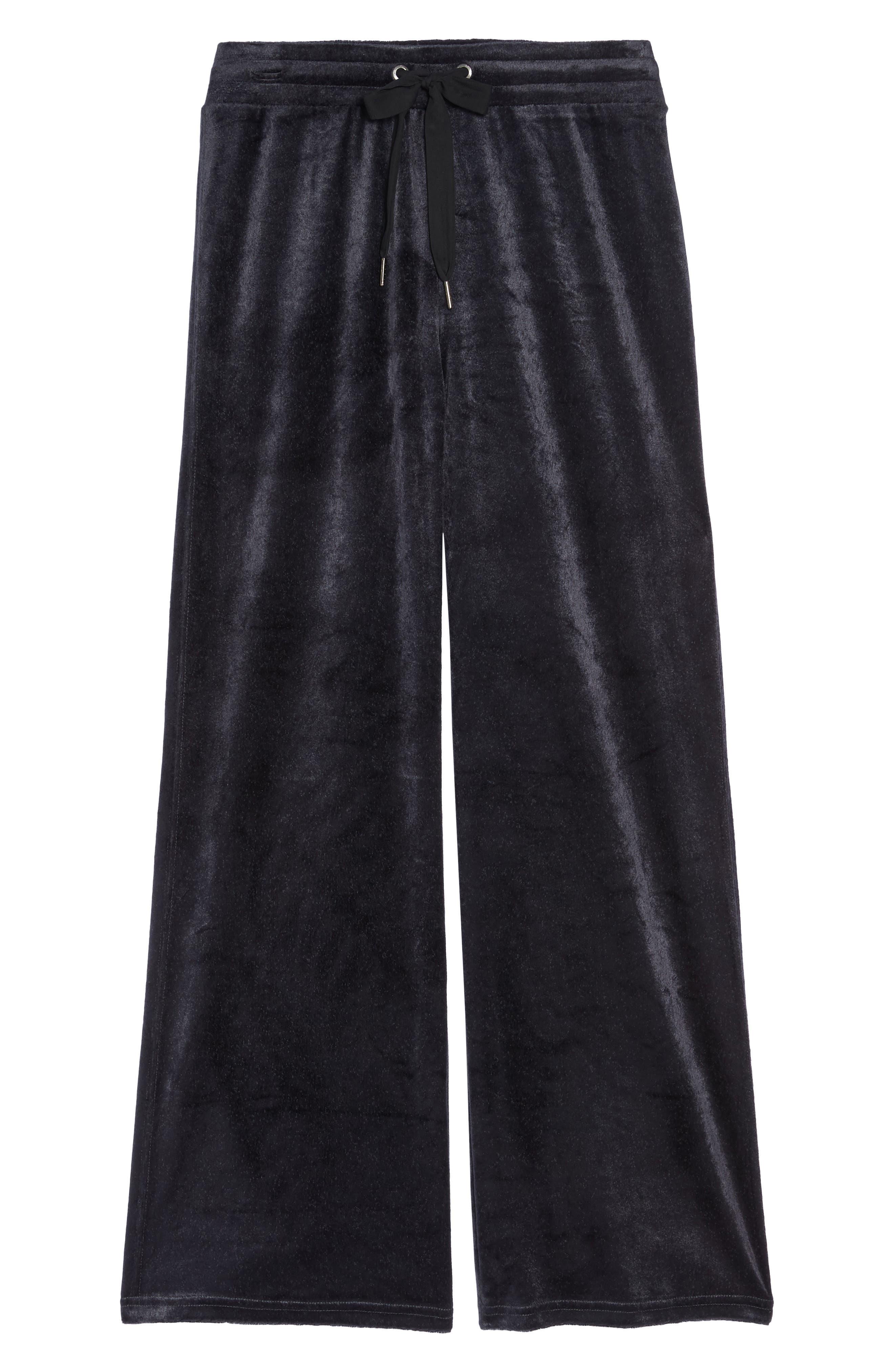 Paris Wide Leg Velour Pants,                             Alternate thumbnail 11, color,