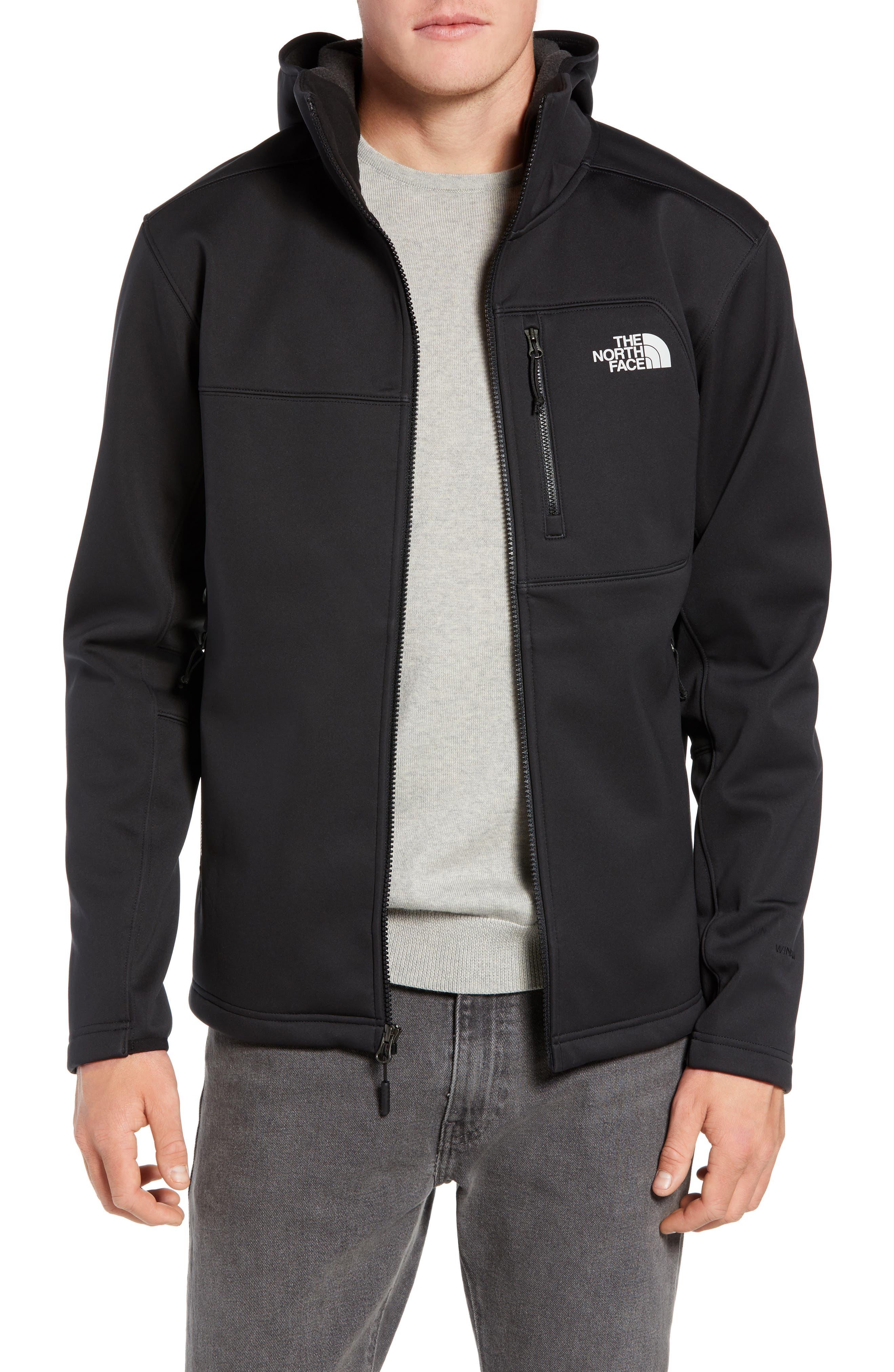 THE NORTH FACE,                             North Face Apex Risor Hooded Jacket,                             Main thumbnail 1, color,                             TNF BLACK/ TNF BLACK