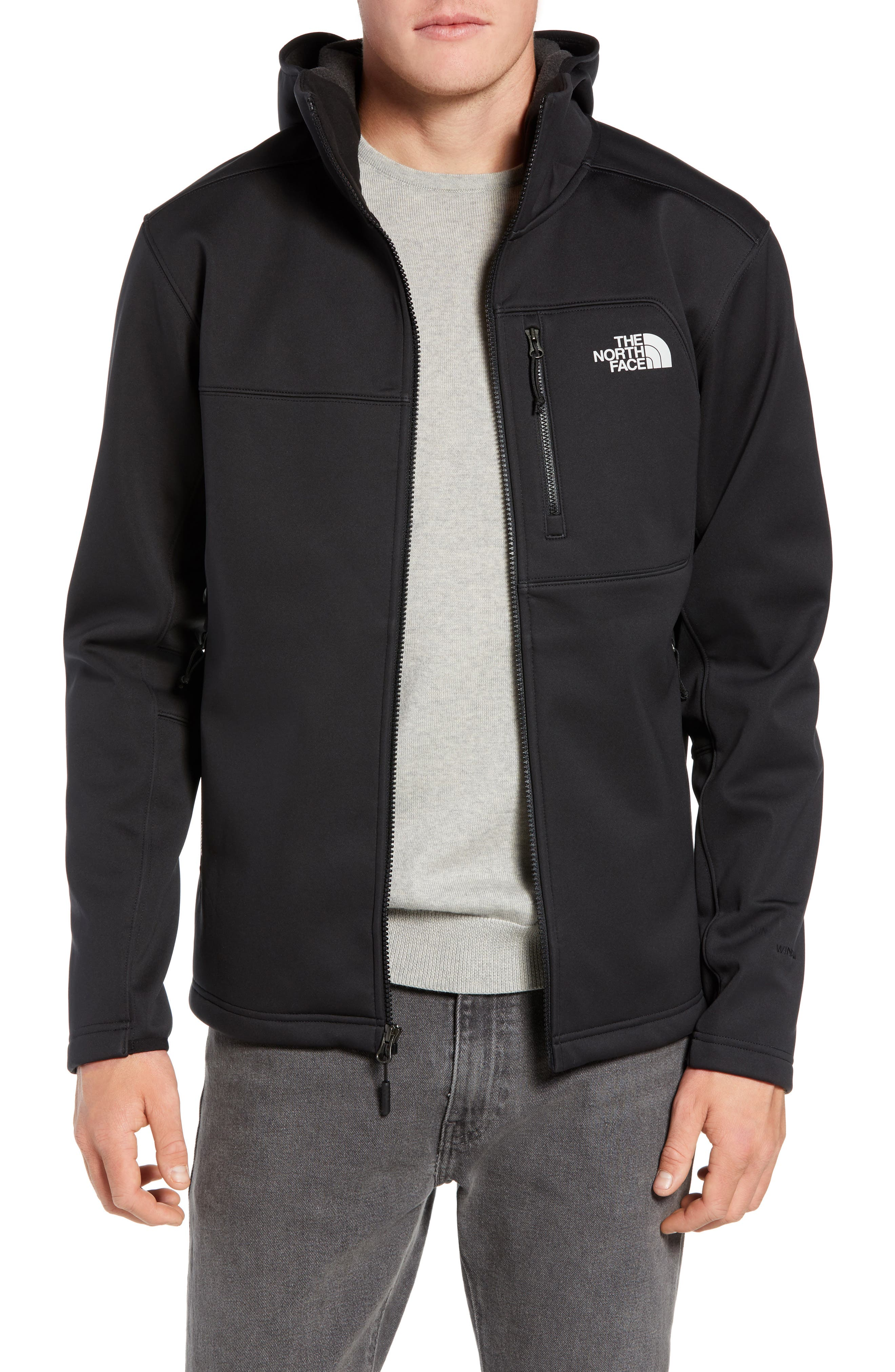 THE NORTH FACE North Face Apex Risor Hooded Jacket, Main, color, TNF BLACK/ TNF BLACK
