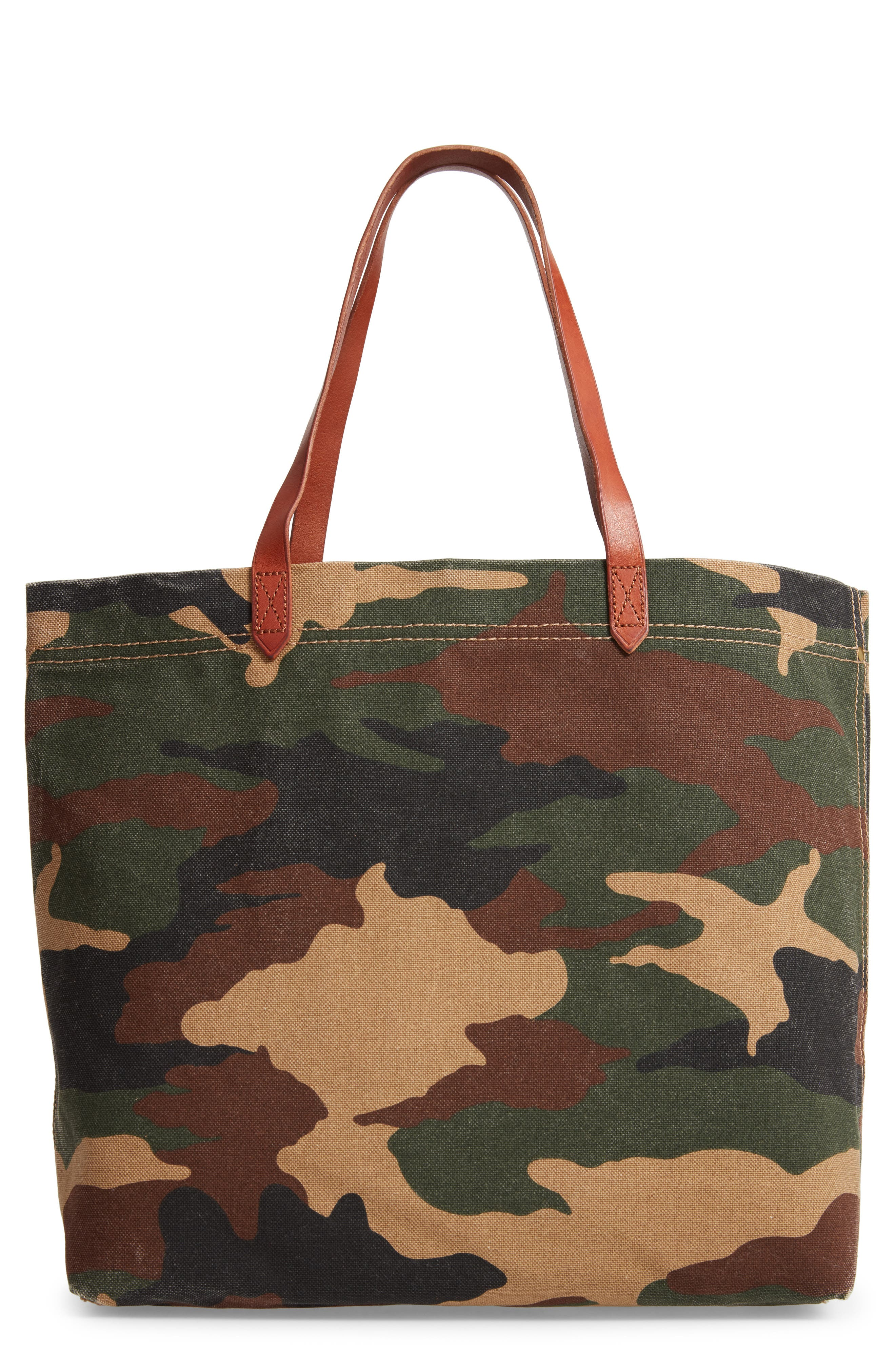 The Canvas Transport Tote in Cottontail Camo,                         Main,                         color,