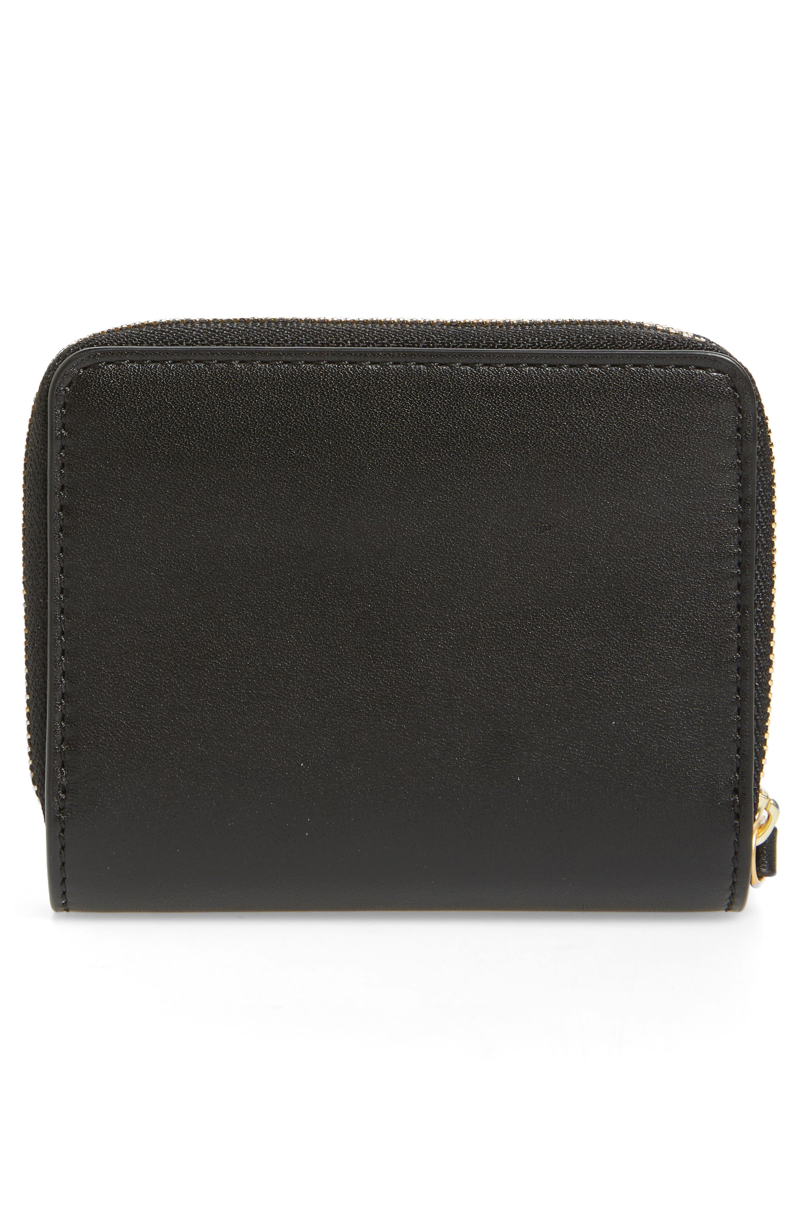 Mini Charlie Leather Wallet,                             Alternate thumbnail 4, color,                             001