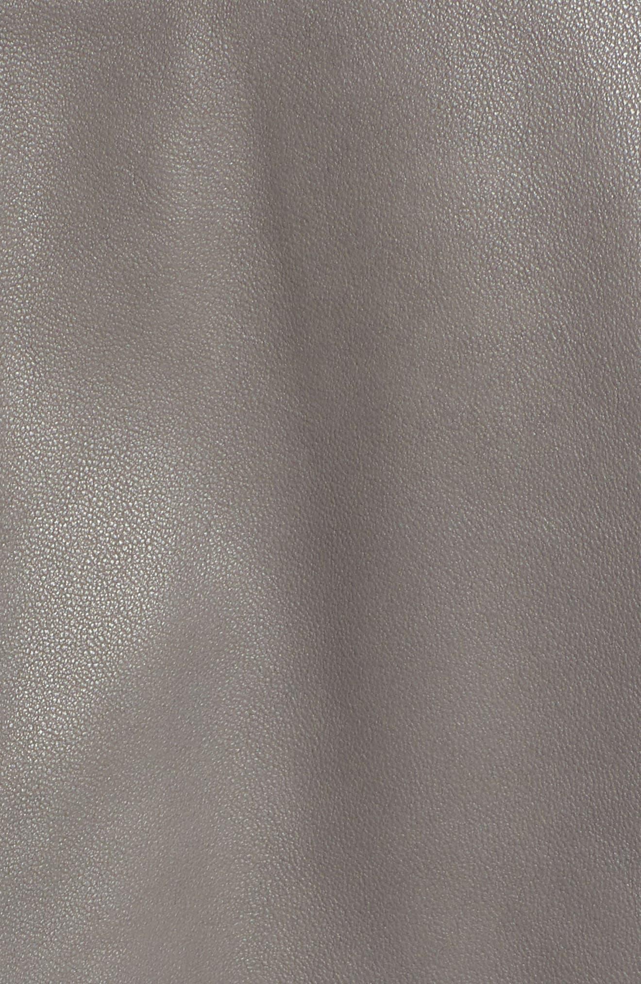 Thea Peplum Hem Leather Jacket,                             Alternate thumbnail 7, color,                             020