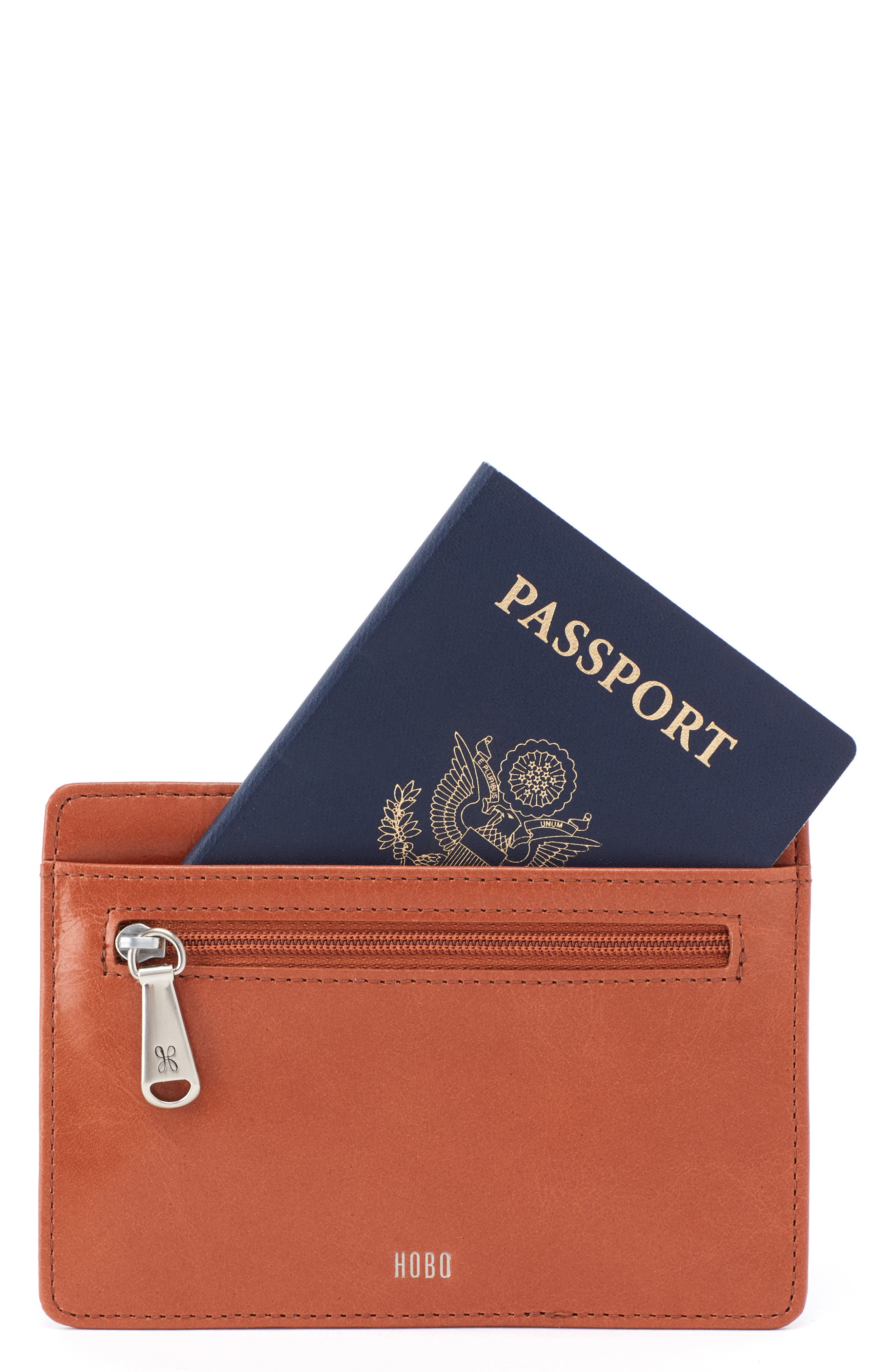 Euro Slide Credit Card & Passport Case,                         Main,                         color, CLAY