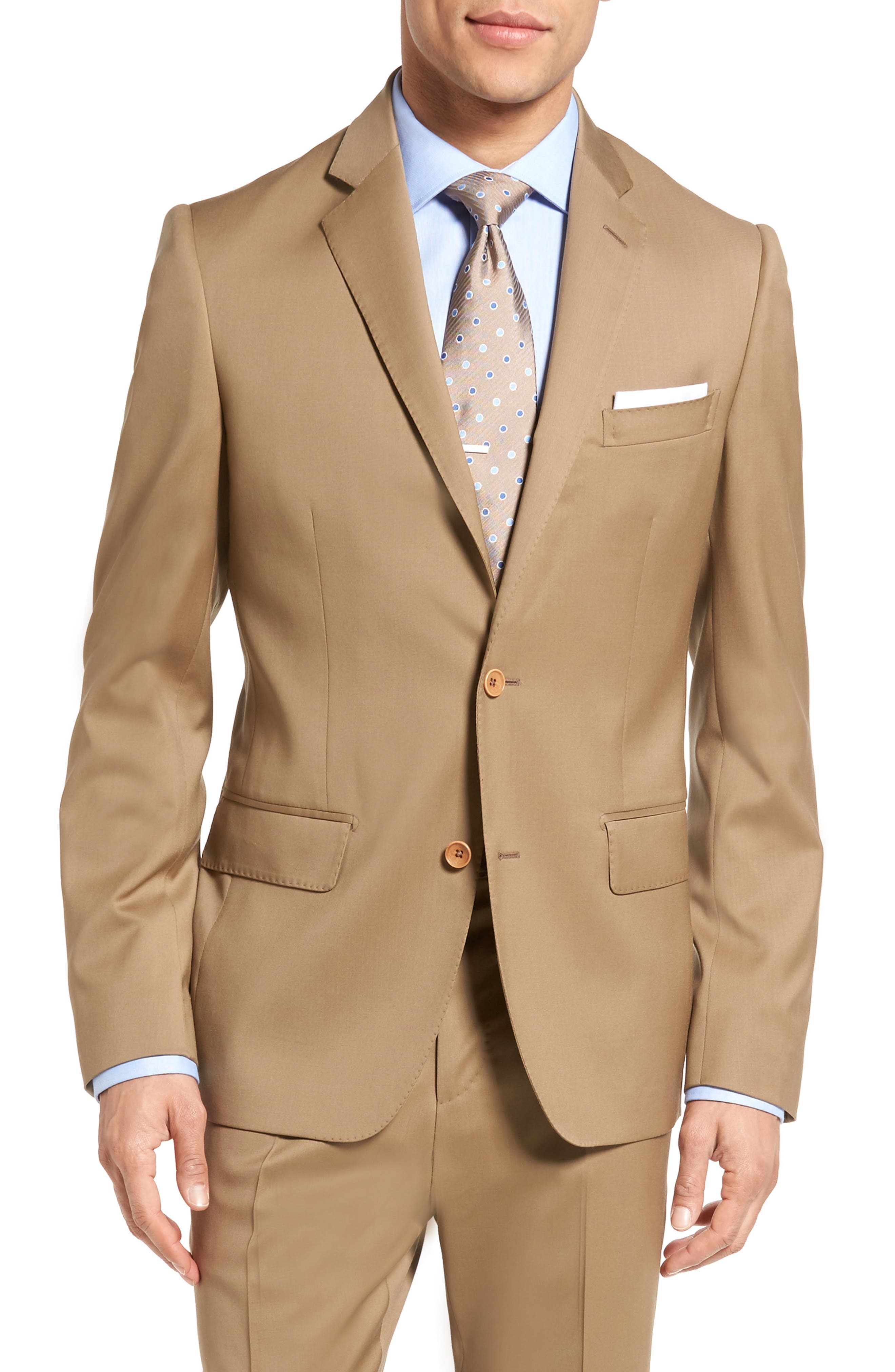 Classic Fit Solid Wool Suit,                             Alternate thumbnail 28, color,