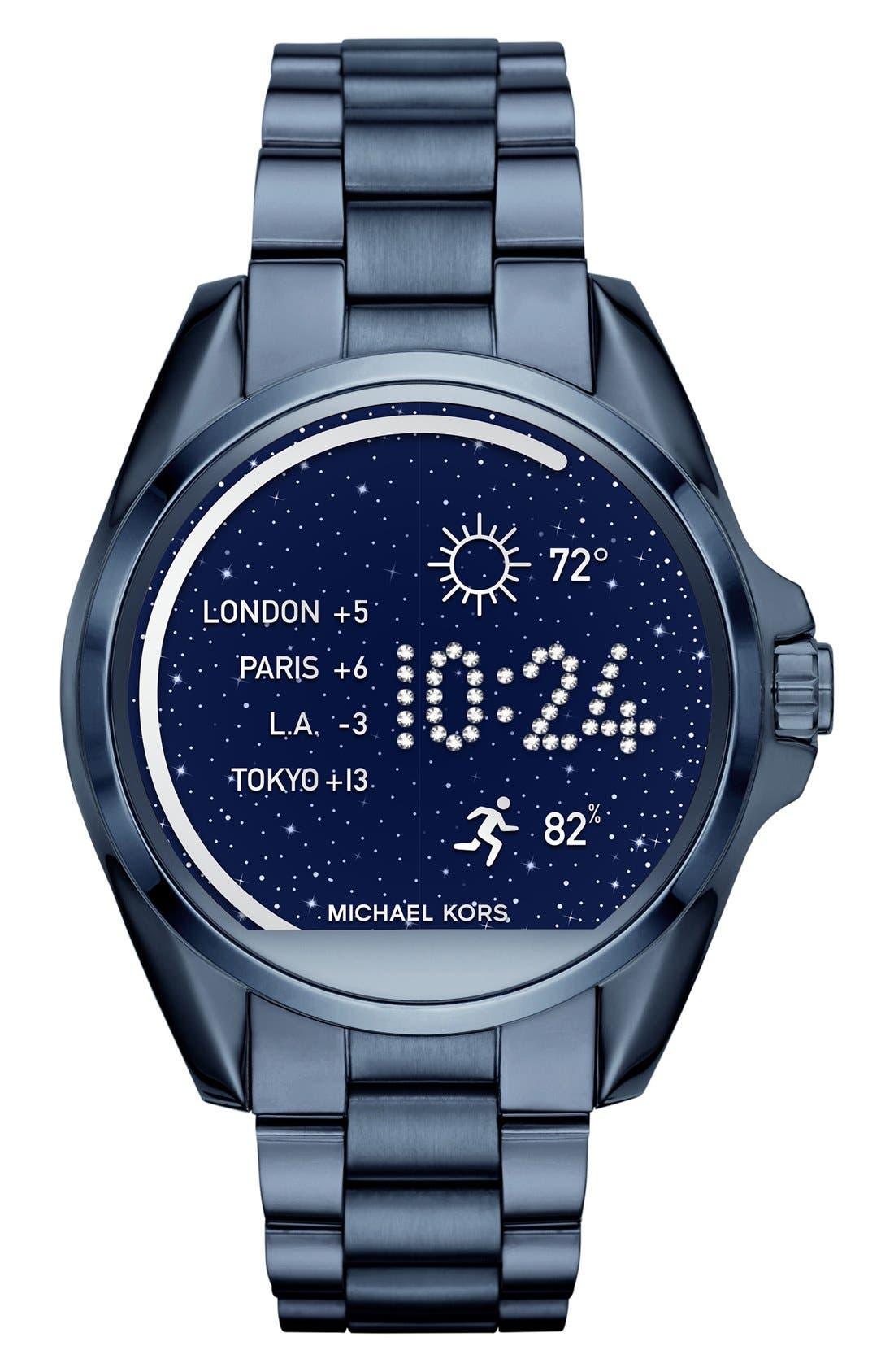 MICHAEL Michael Kors Bradshaw Access Bracelet Smart Watch, 45mm,                             Main thumbnail 7, color,