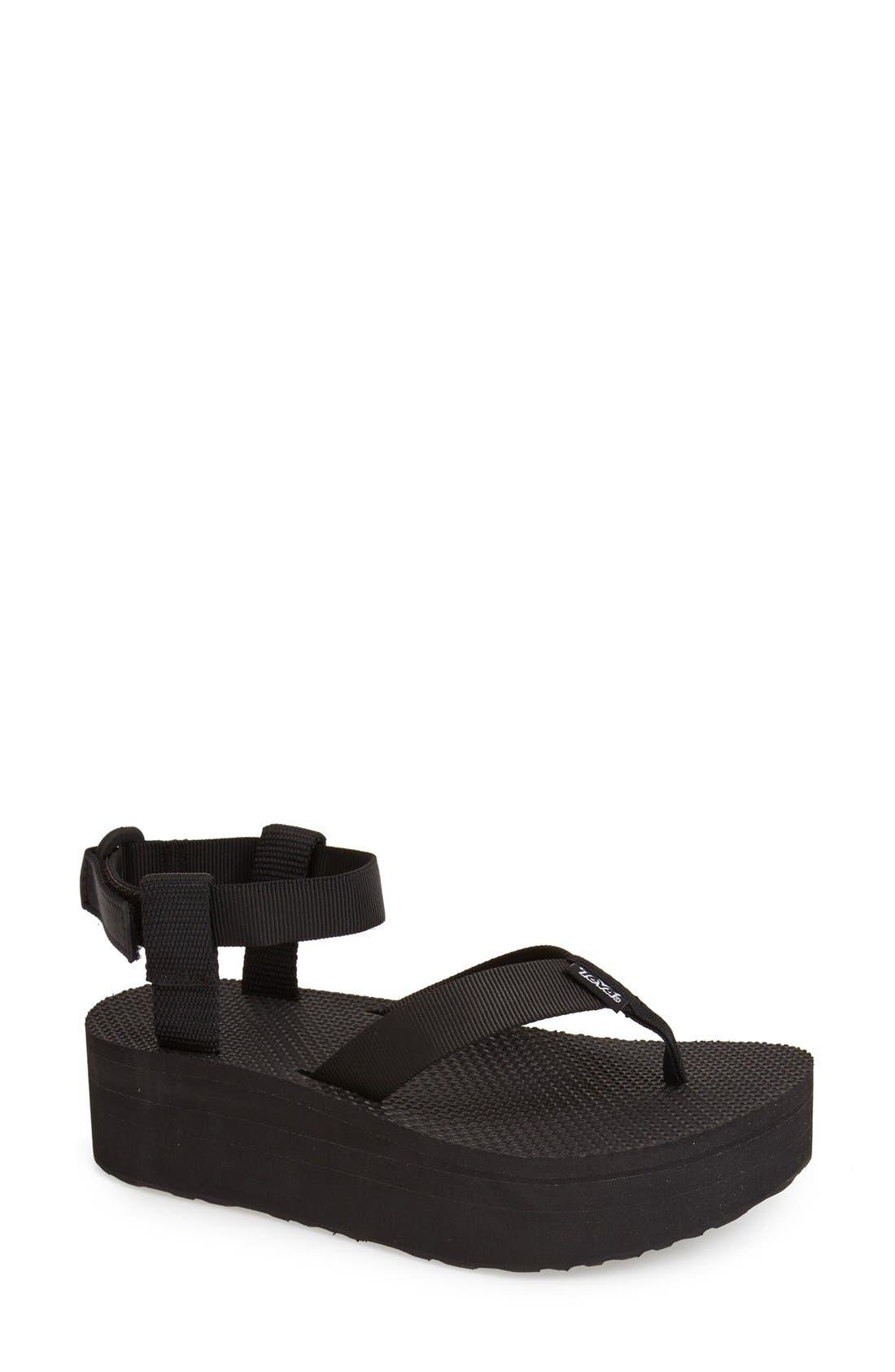 TEVA,                             'Original' Flatform Sandal,                             Main thumbnail 1, color,                             001