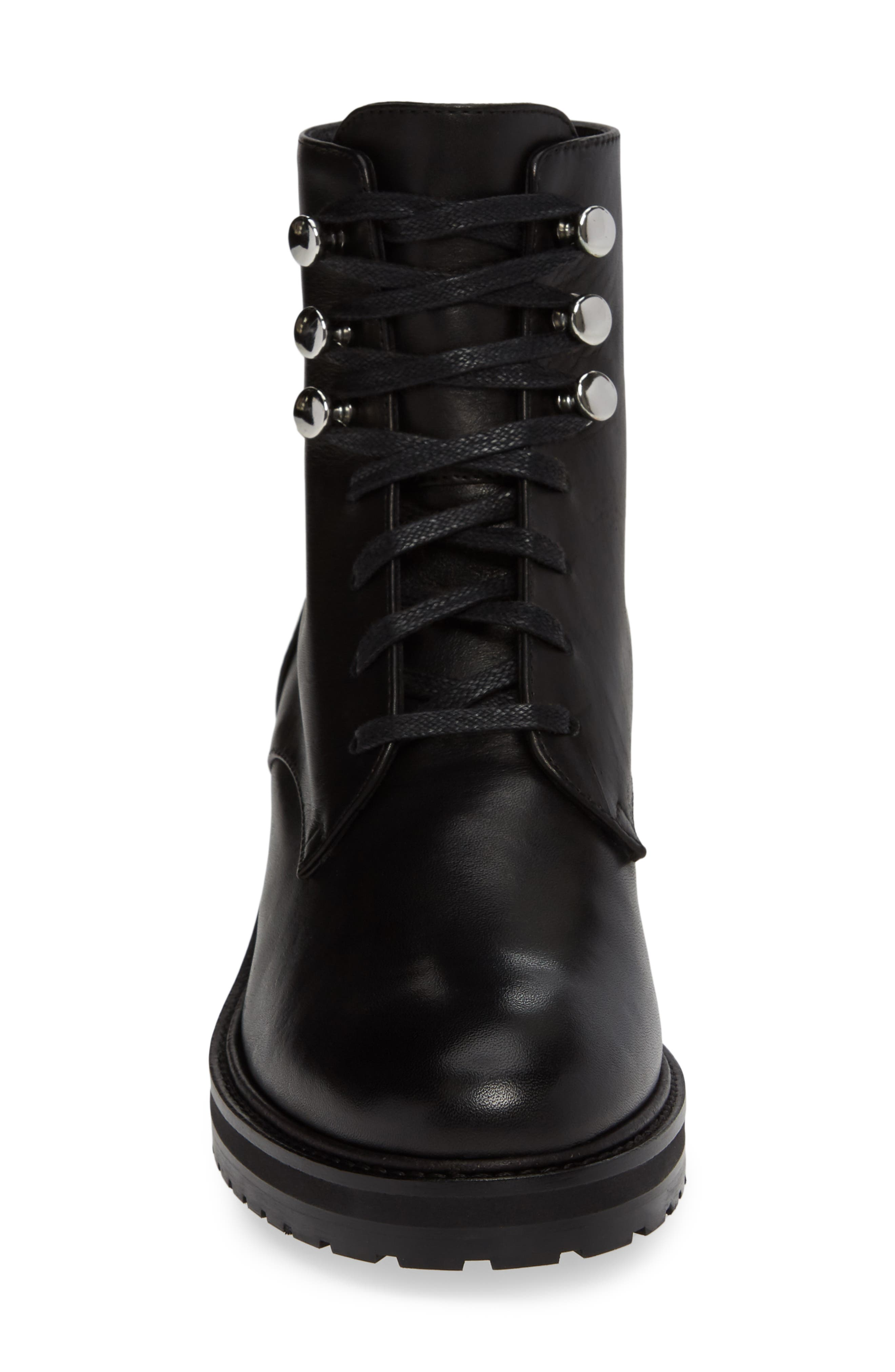 Leora Boot,                             Alternate thumbnail 4, color,                             BLACK LEATHER
