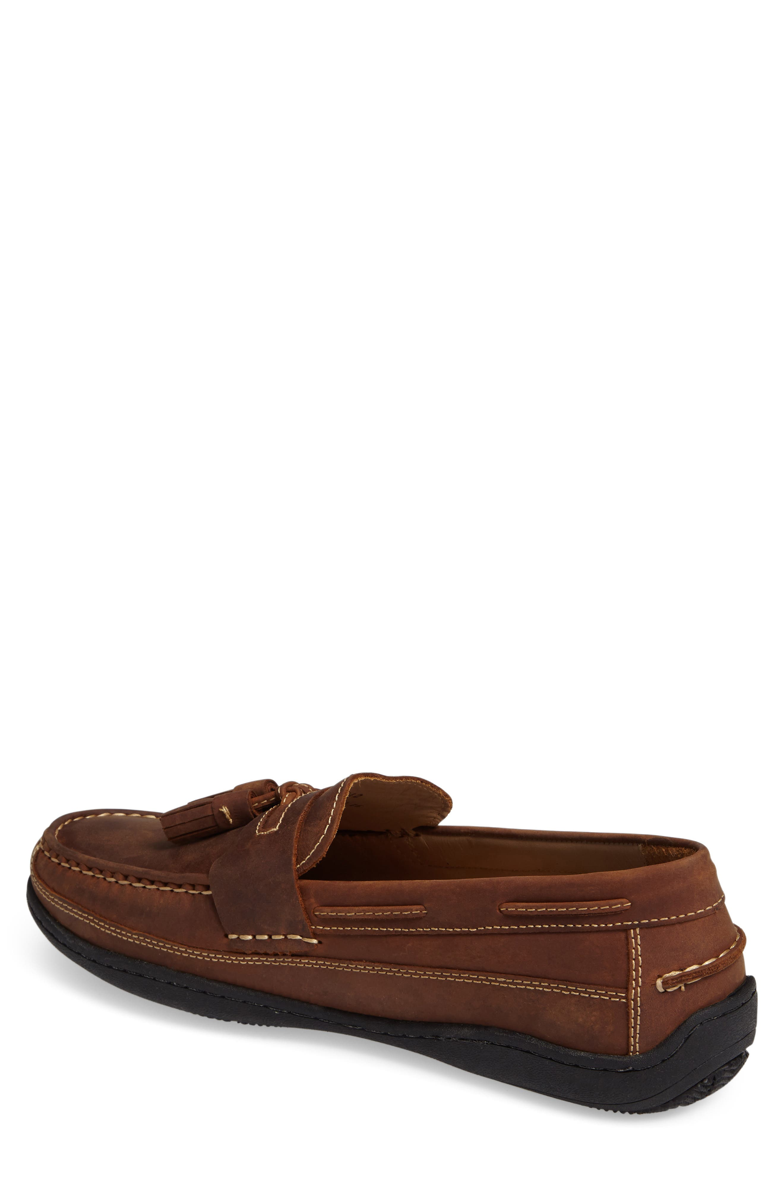 Fowler Tasseled Loafer,                             Alternate thumbnail 2, color,                             TAN LEATHER
