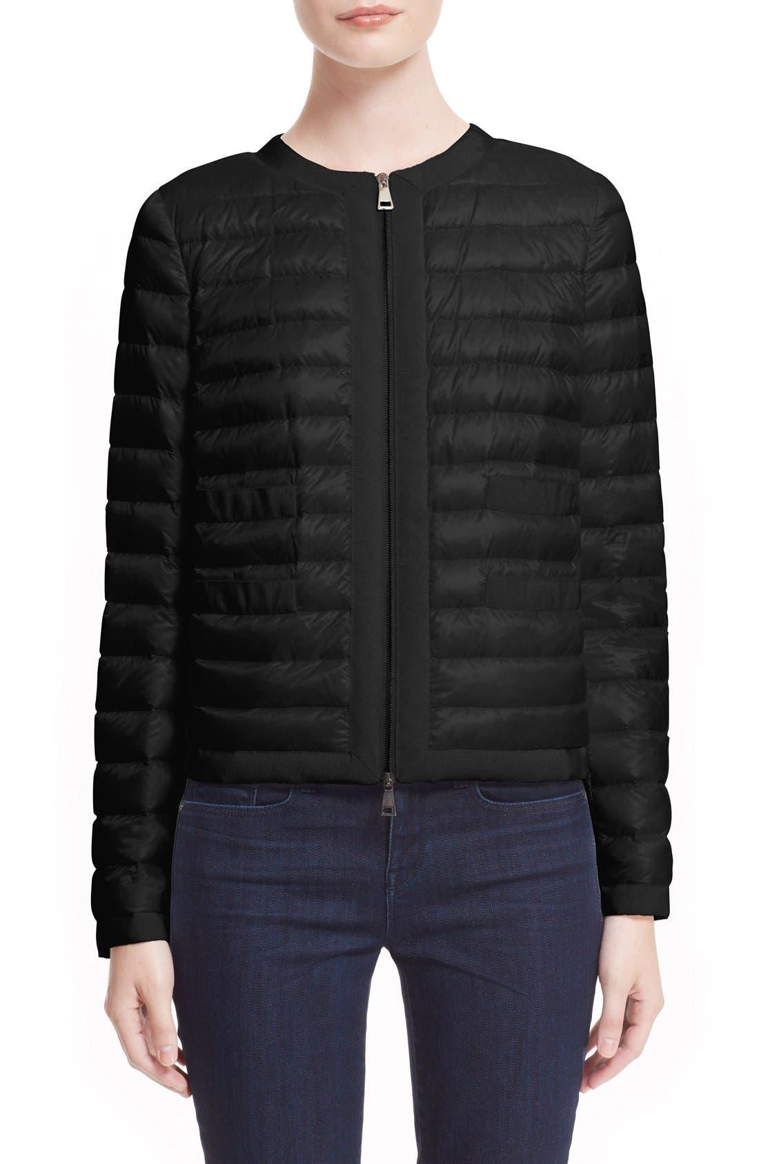 'Alose' Water Resistant Short Puffer Jacket,                             Main thumbnail 1, color,                             001