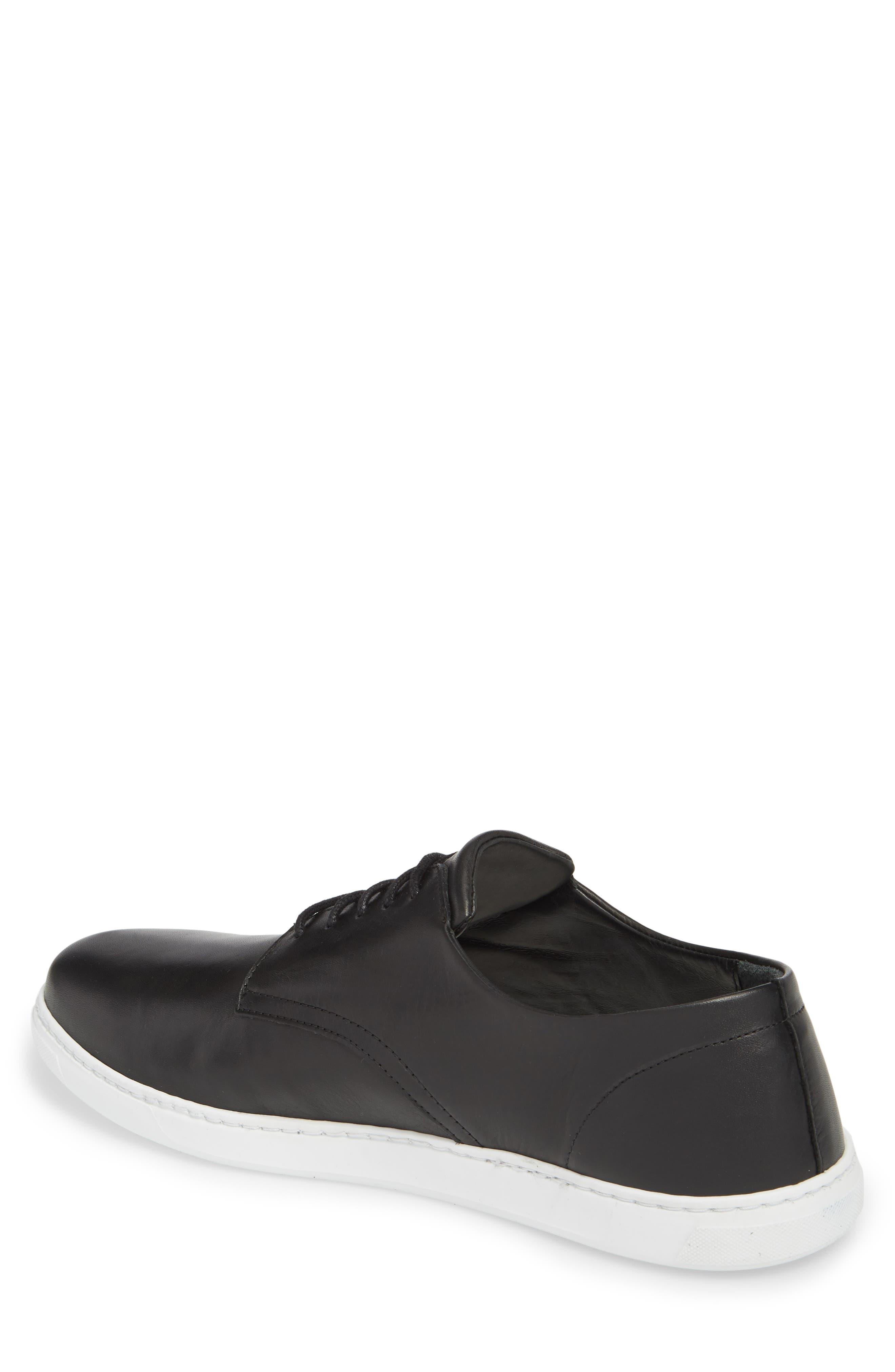 Nok Derby Sneaker,                             Alternate thumbnail 2, color,                             BLACK LEATHER