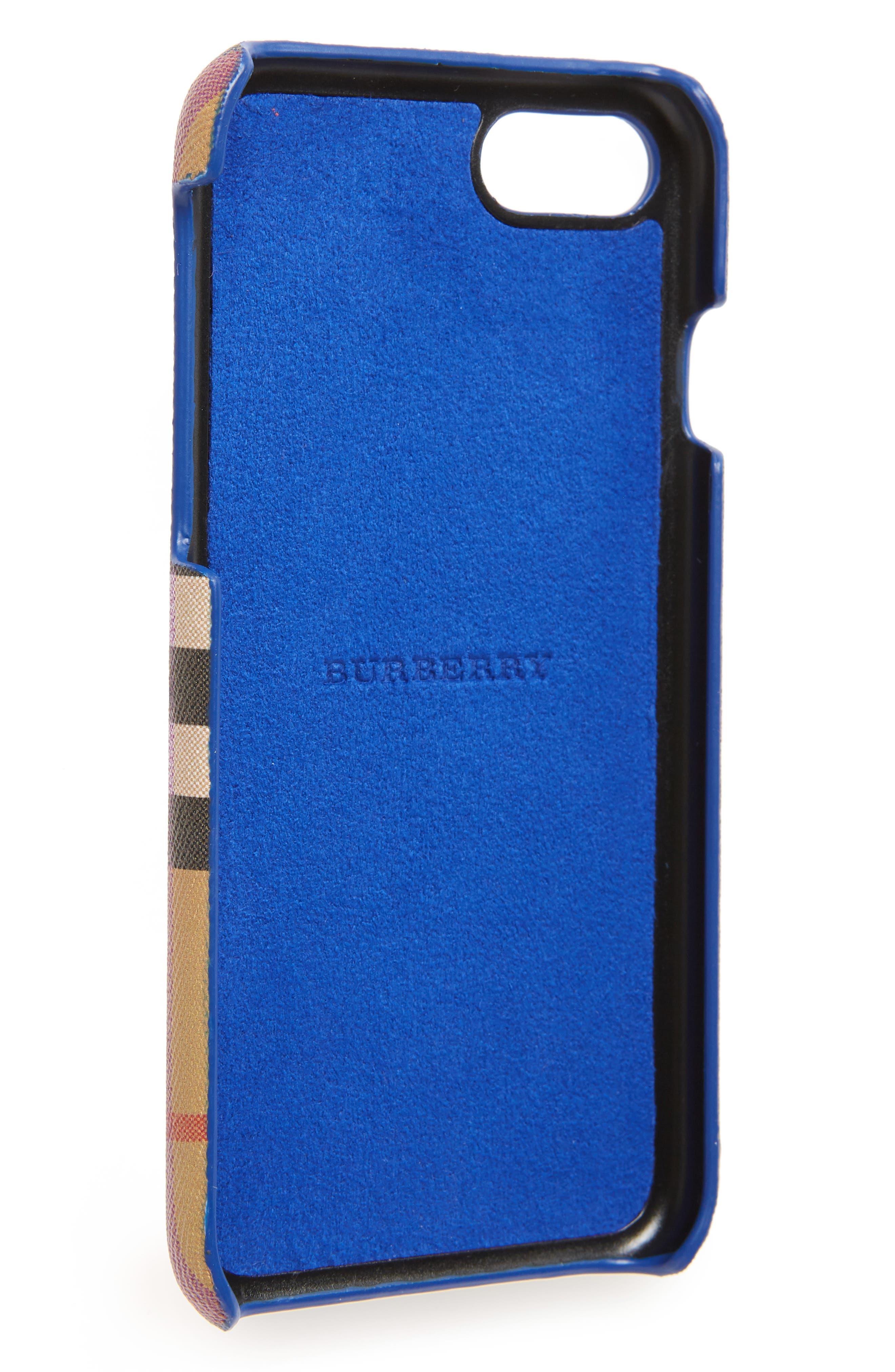 Vintage Check Rainbow iPhone 8 Case,                             Alternate thumbnail 2, color,                             ANTIQUE YELLOW