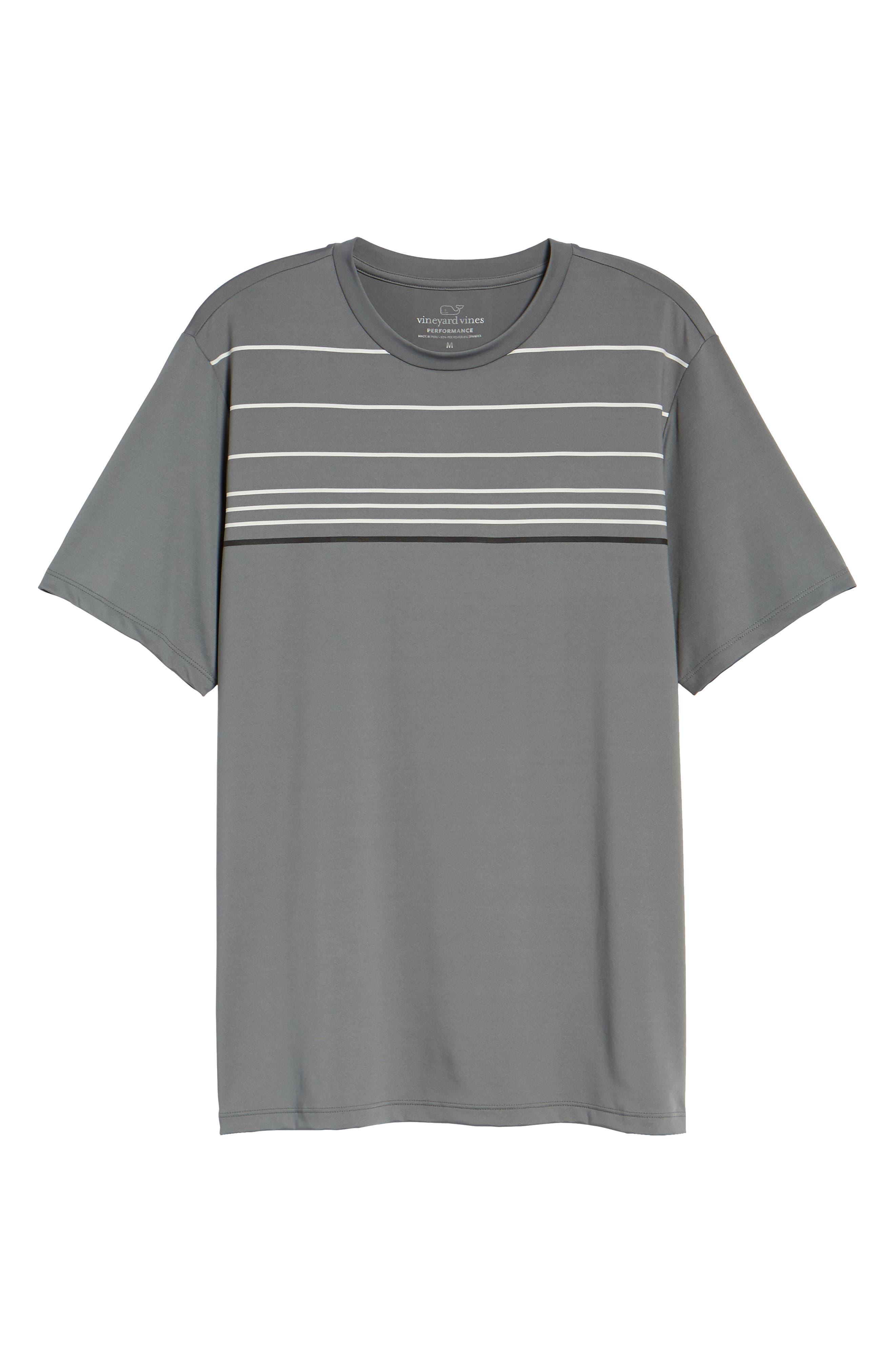 Stripe Performance T-Shirt,                             Alternate thumbnail 6, color,                             GRAPHITE