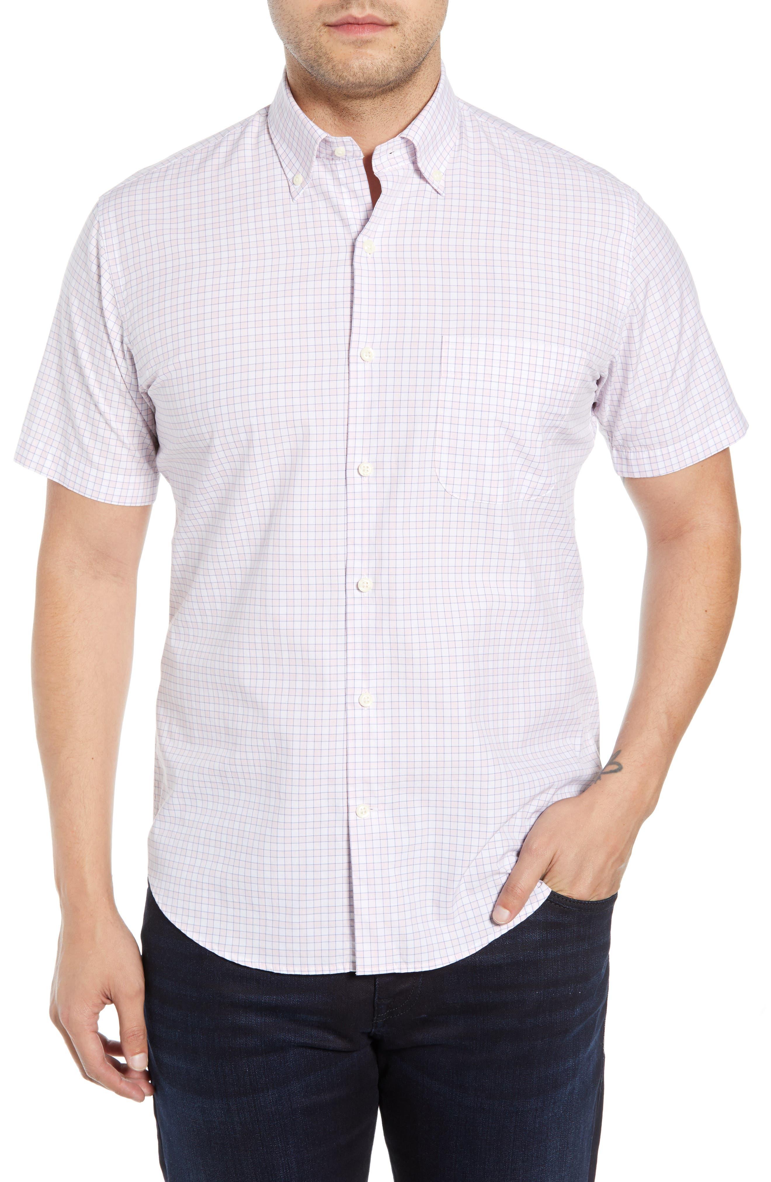 Peter Millar Florence Regular Fit Short Sleeve Sport Shirt, Pink