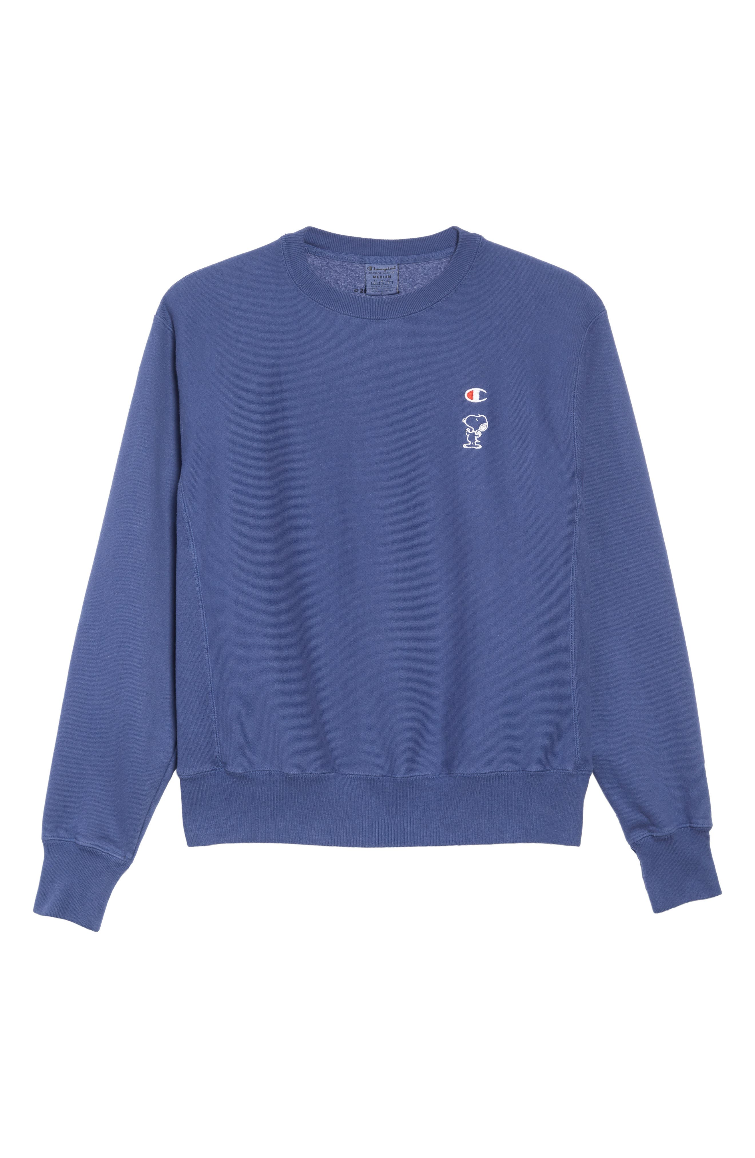 Reverse Weave<sup>®</sup> Snoopy Sweatshirt,                             Alternate thumbnail 6, color,                             DUTCH BLUE