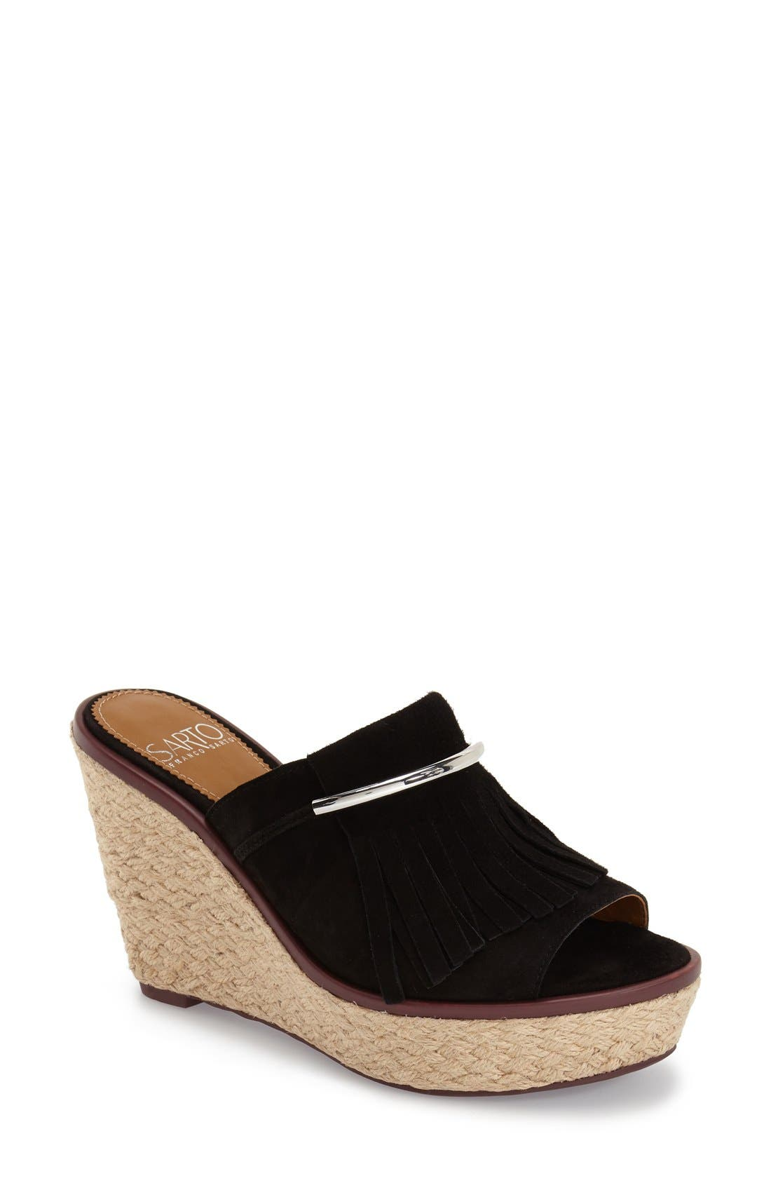'Candace' Wedge Mule,                             Main thumbnail 1, color,