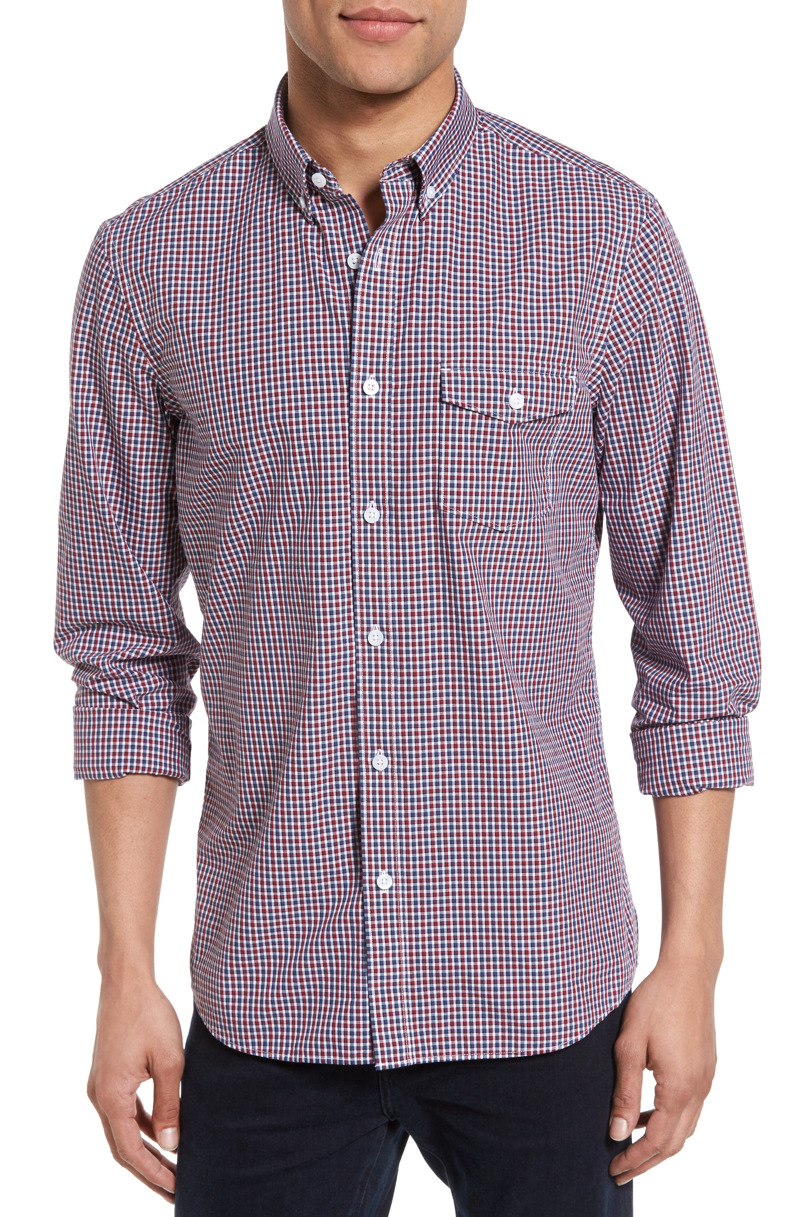 Slim Fit Check Sport Shirt,                         Main,                         color, 610