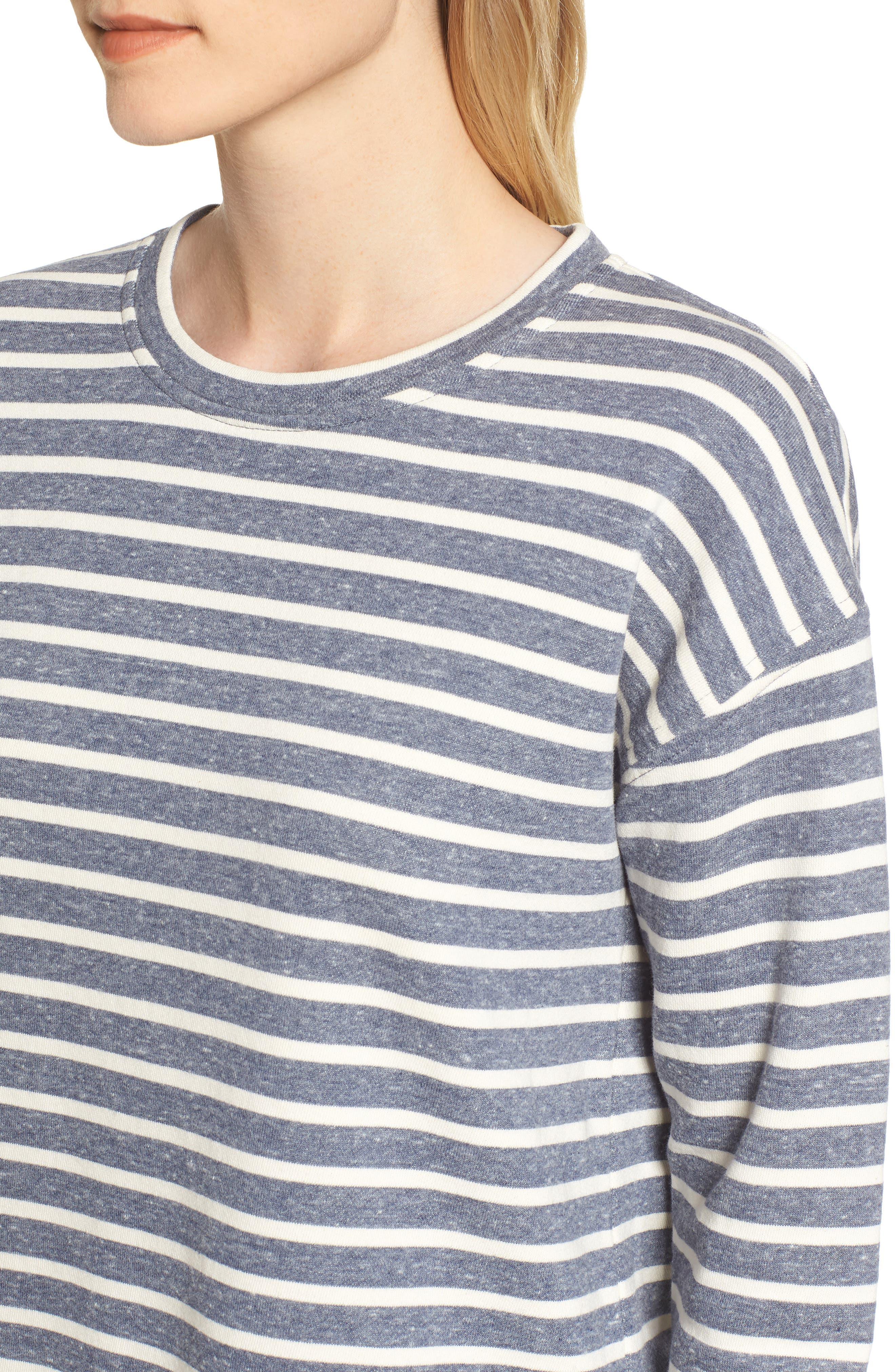 Stripe Sweatshirt,                             Alternate thumbnail 4, color,                             461