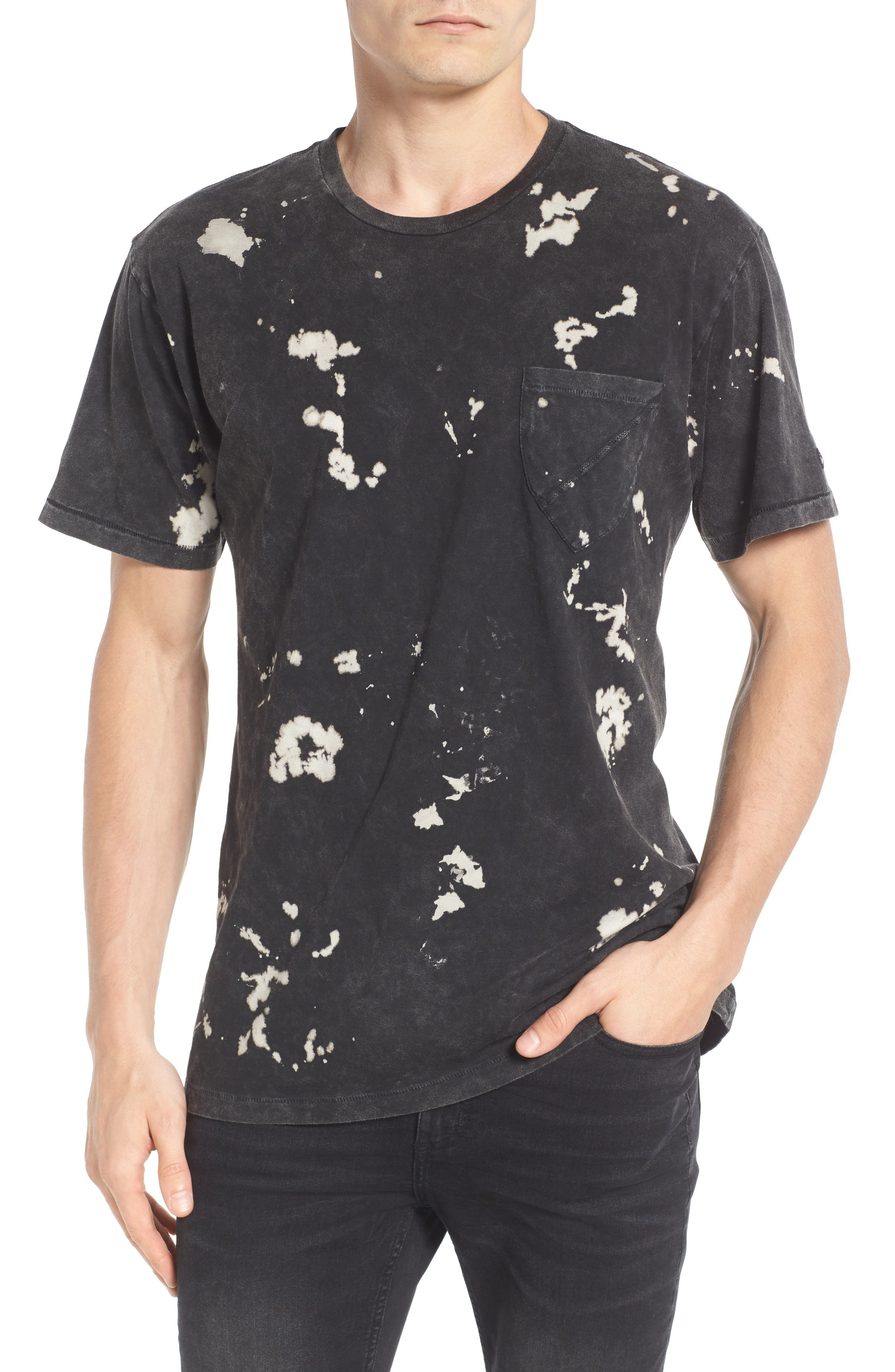 Acid Washed Pocket T-Shirt,                             Main thumbnail 1, color,                             001